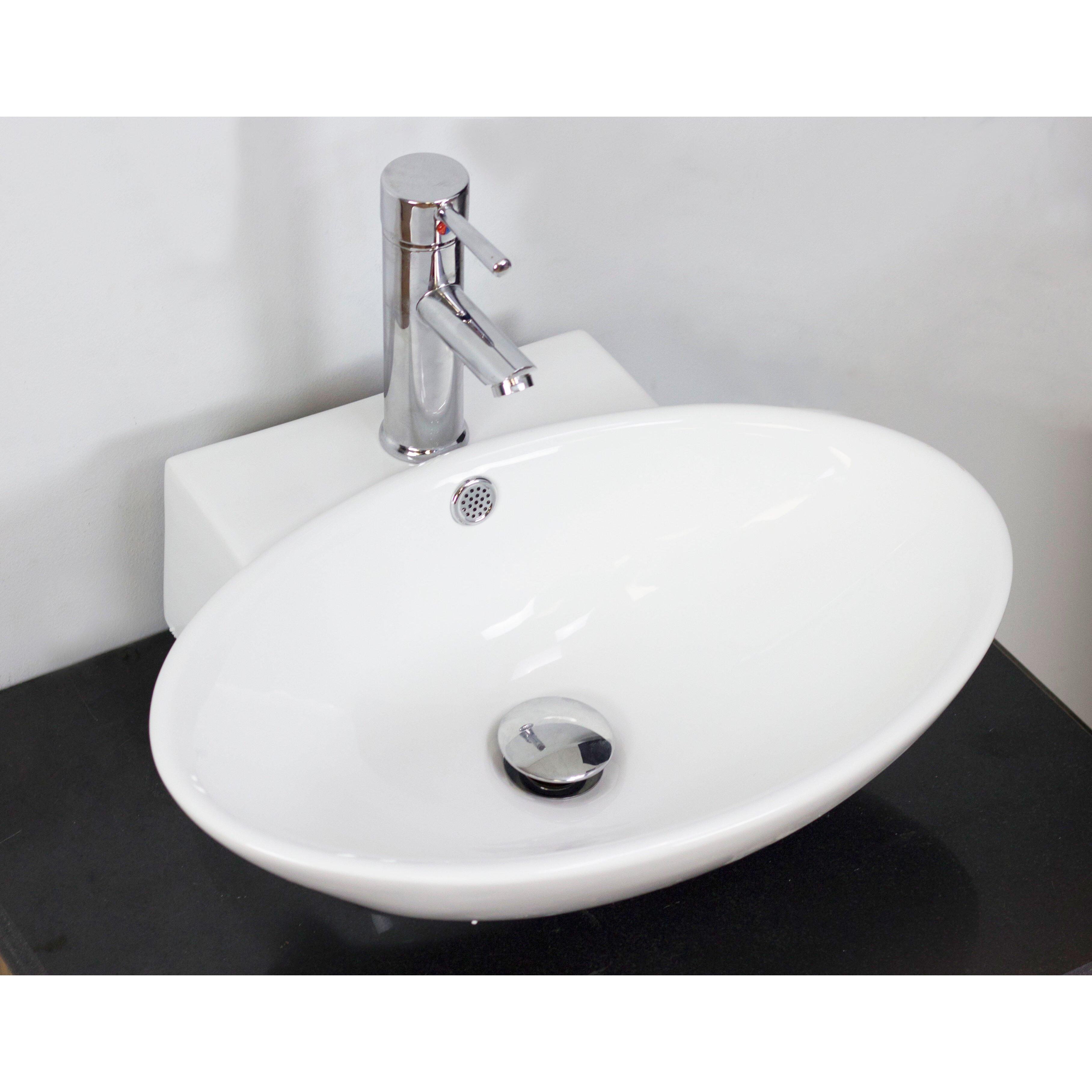 American Imaginations Above Counter Oval Vessel Bathroom ...
