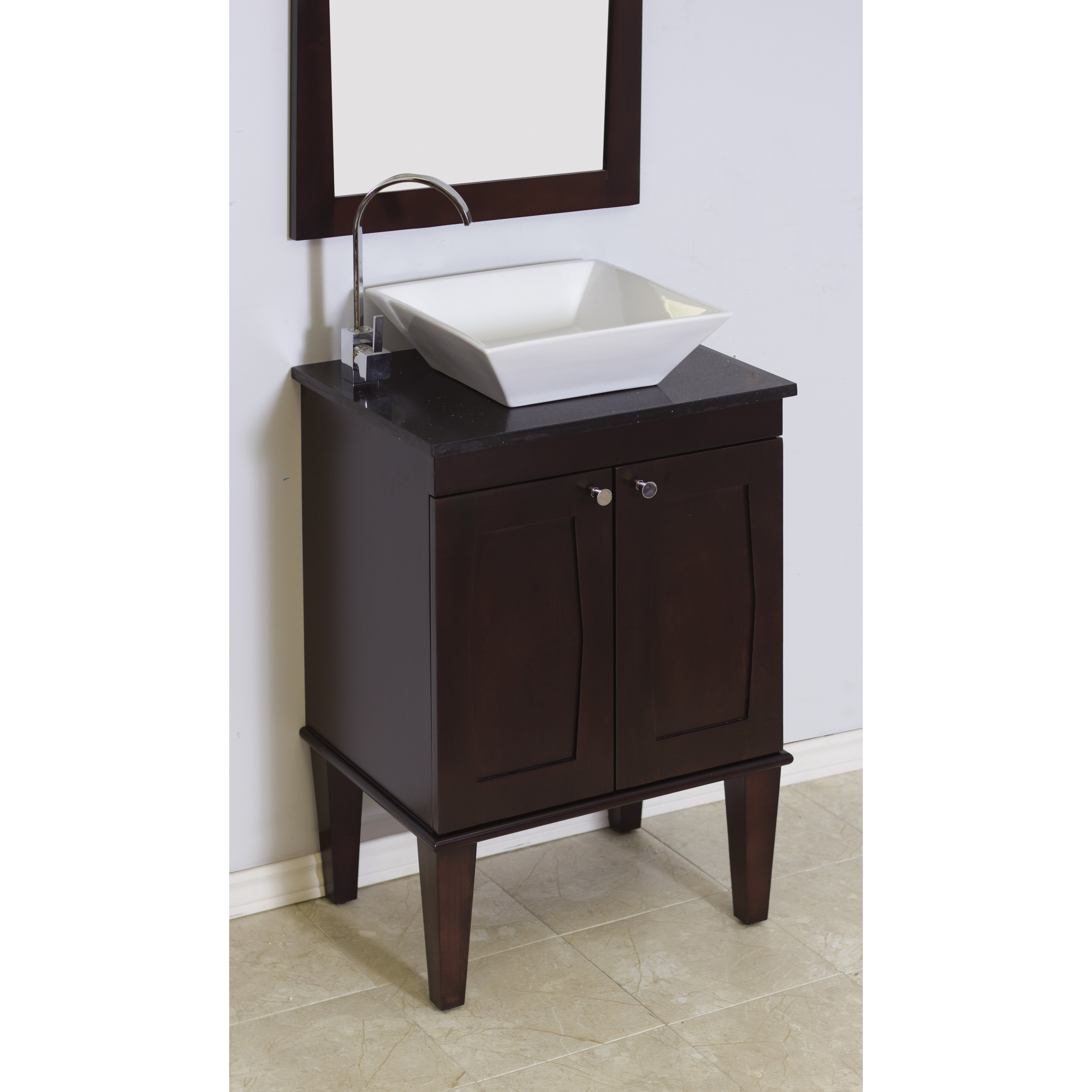 American imaginations 24 single transitional bathroom vanity set wayfair Transitional bathroom vanities