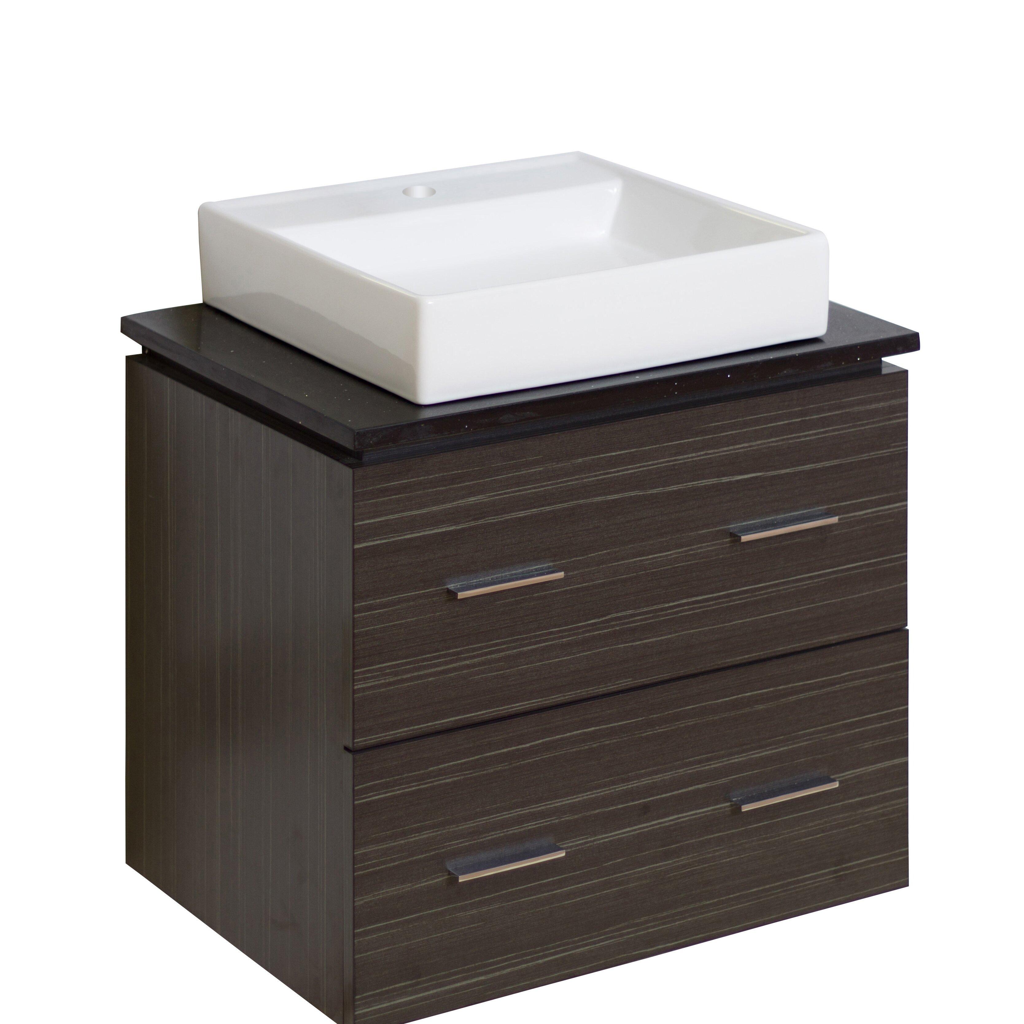 American imaginations 24 single modern wall mount bathroom vanity set reviews wayfair - Linden modern bathroom vanity set ...