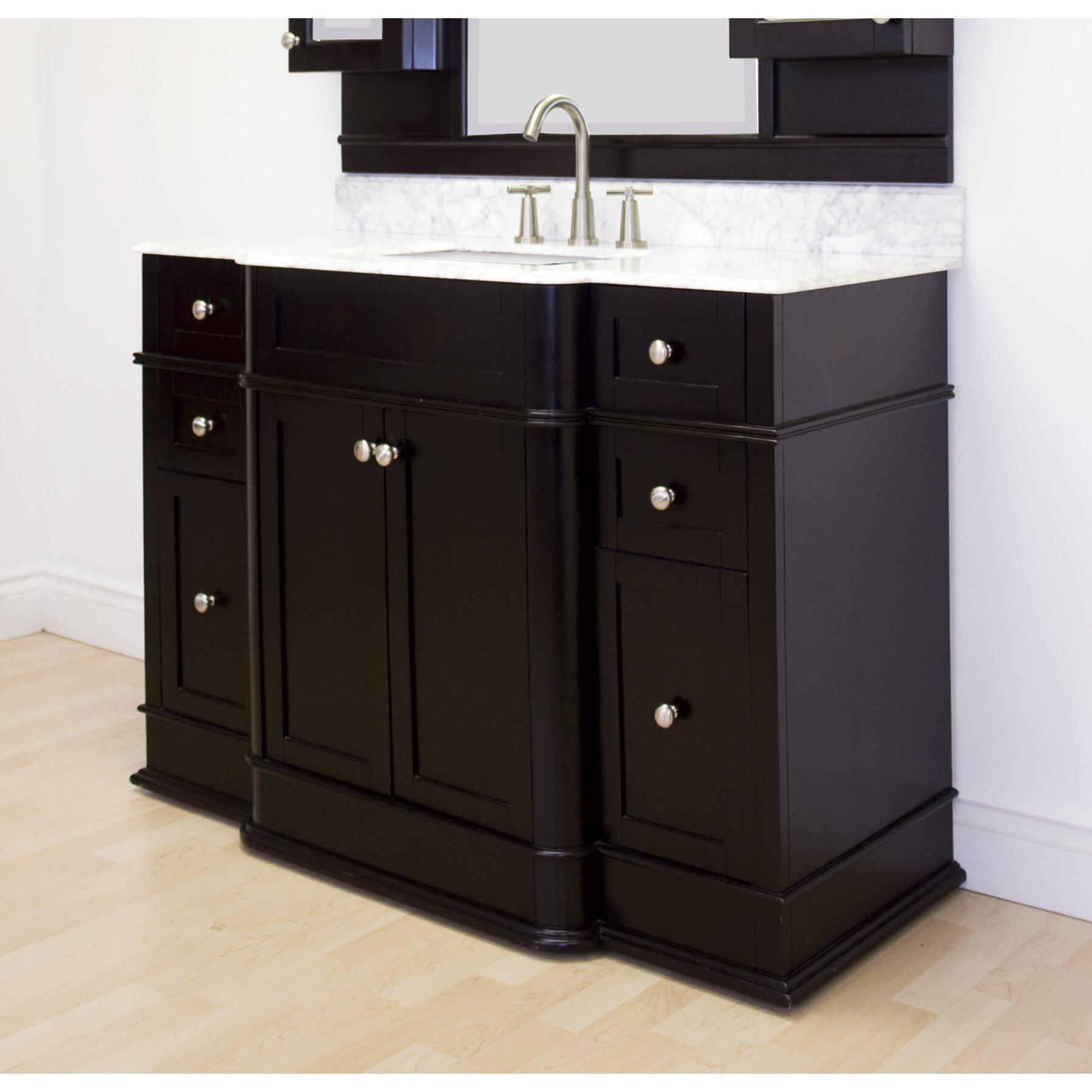 "American Imaginations 50"" Single Traditional Bathroom Vanity Set & R"