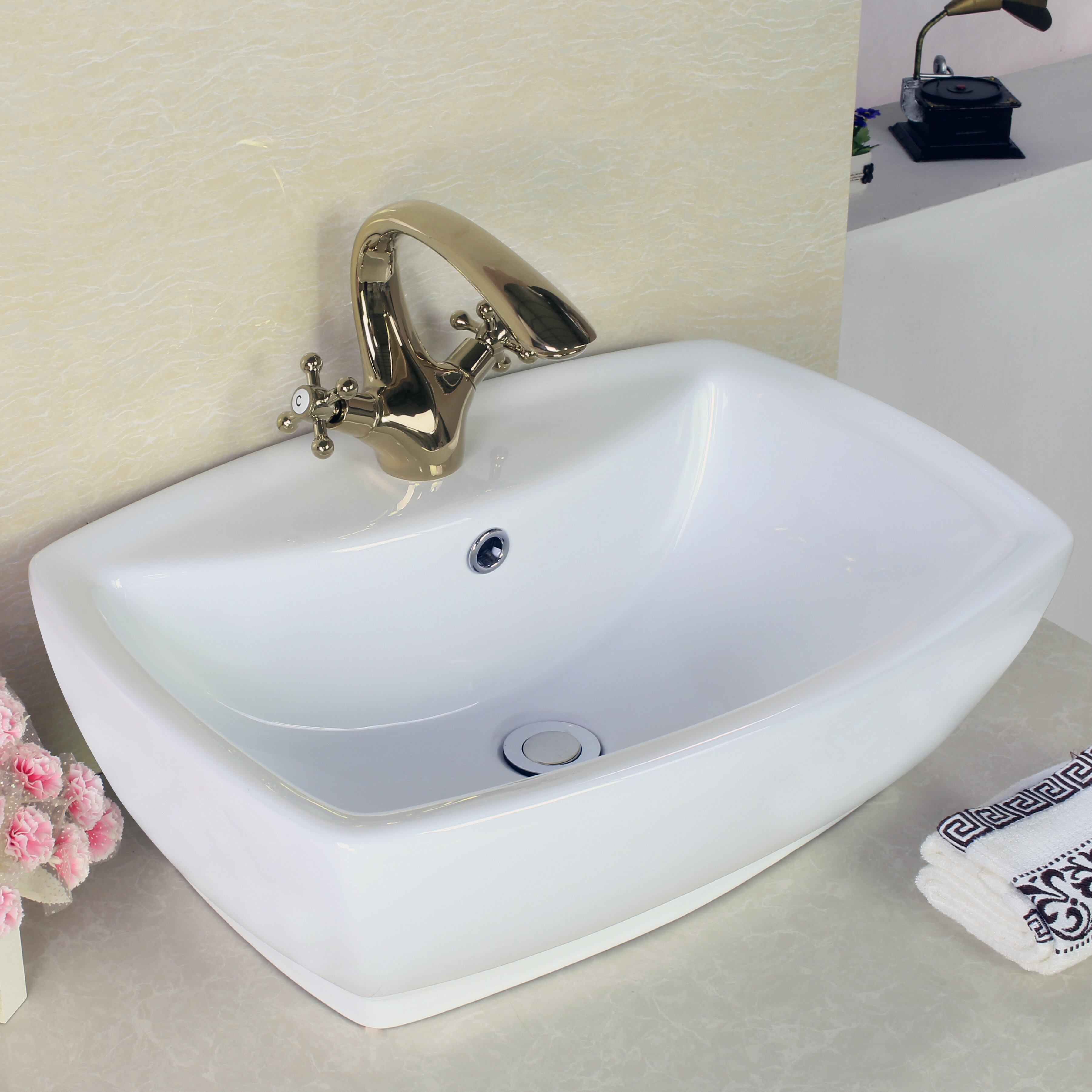 Rectangular Vessel Sink With Overflow : ... Imaginations Above Counter Rectangle Vessel Sink with Overflow