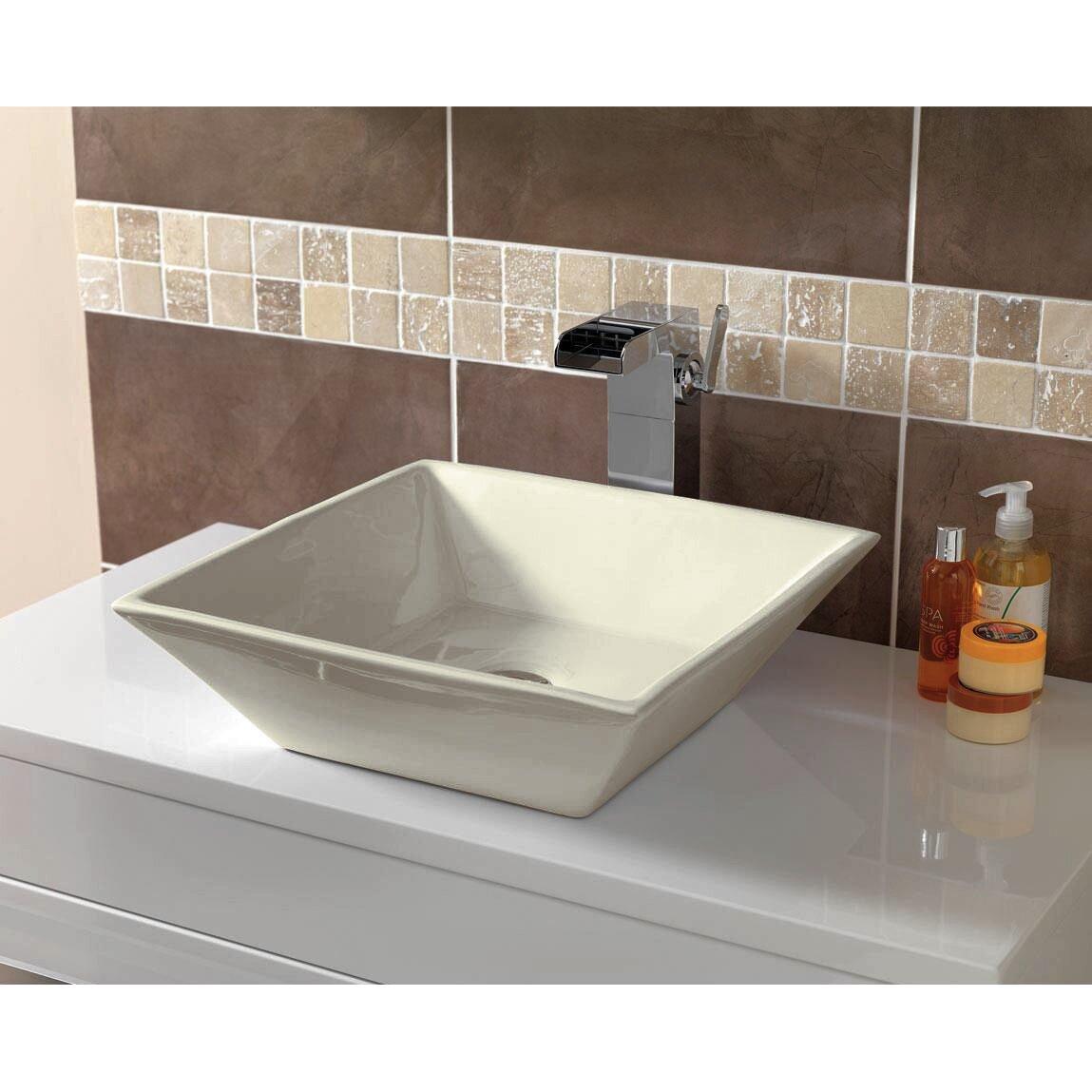 Square Vessel Bathroom Sink : American Imaginations Square Vessel bathroom Sink Wayfair