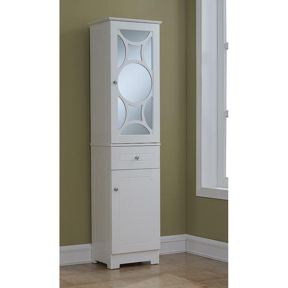 Runfine group elegant x free standing linen - Free standing linen cabinets for bathroom ...