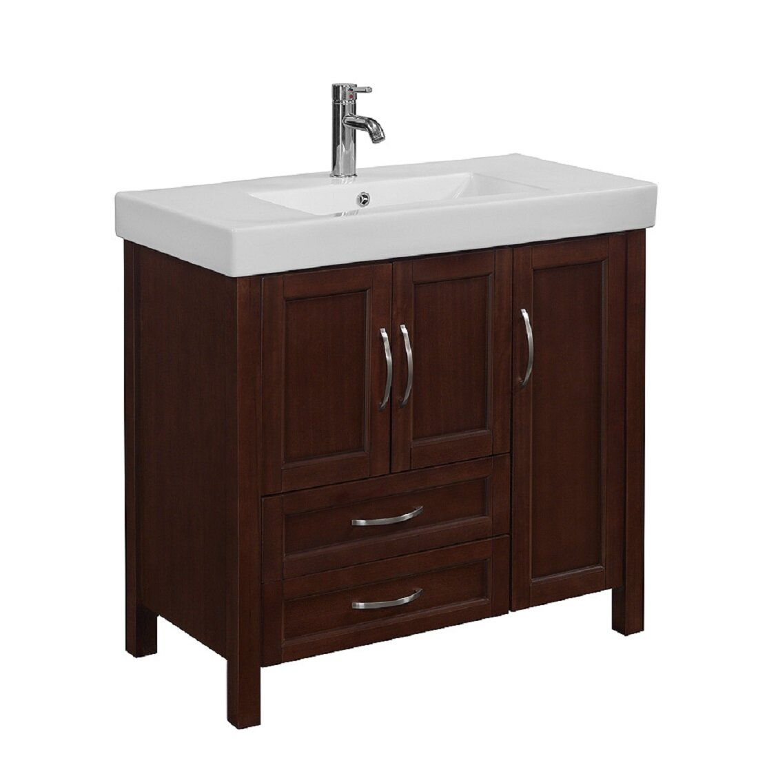Runfine group larissa 36 single bathroom vanity set for Bathroom bathroom bathroom