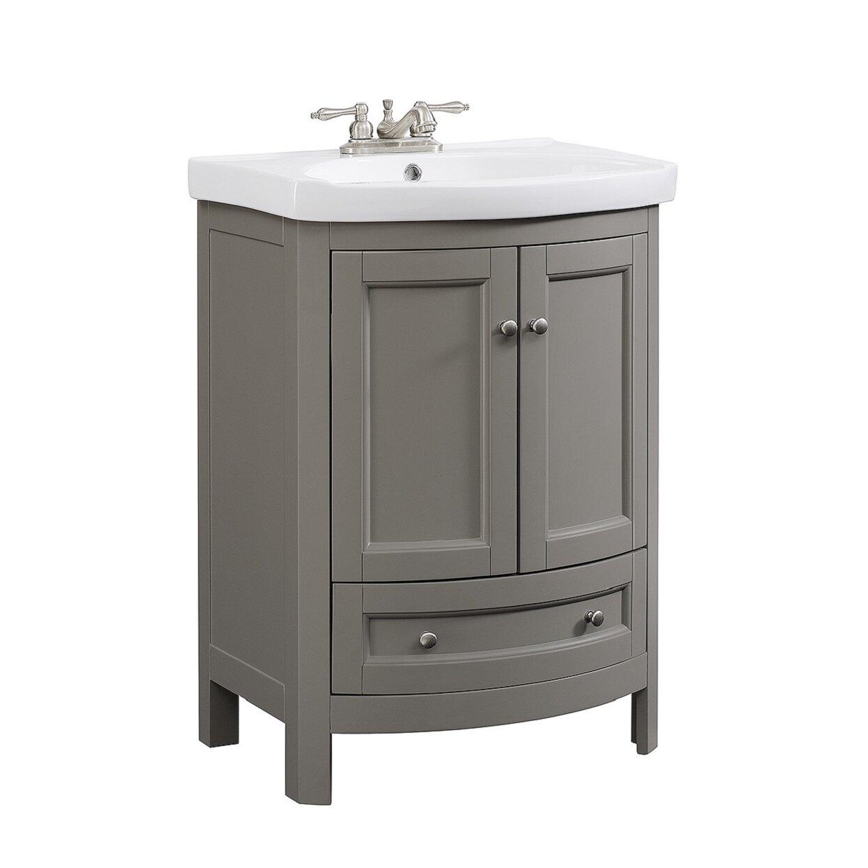 Runfine group 24 single all wood modern vanity set for All modern bathroom vanity
