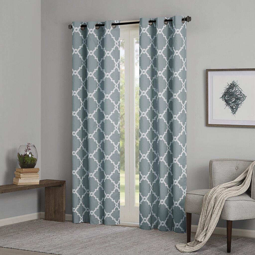 Madison Park Essentials Merritt Geometric Curtain Panels
