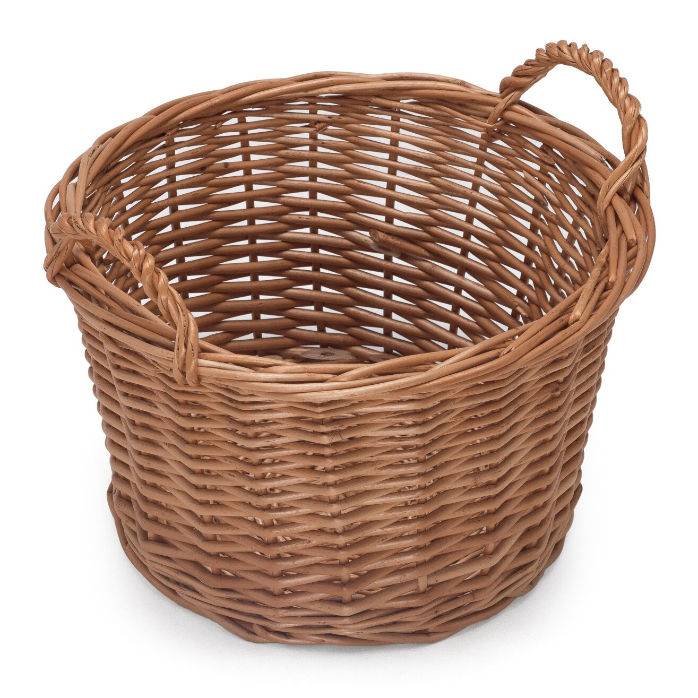 prestige wicker round small wicker storage basket wayfair uk. Black Bedroom Furniture Sets. Home Design Ideas