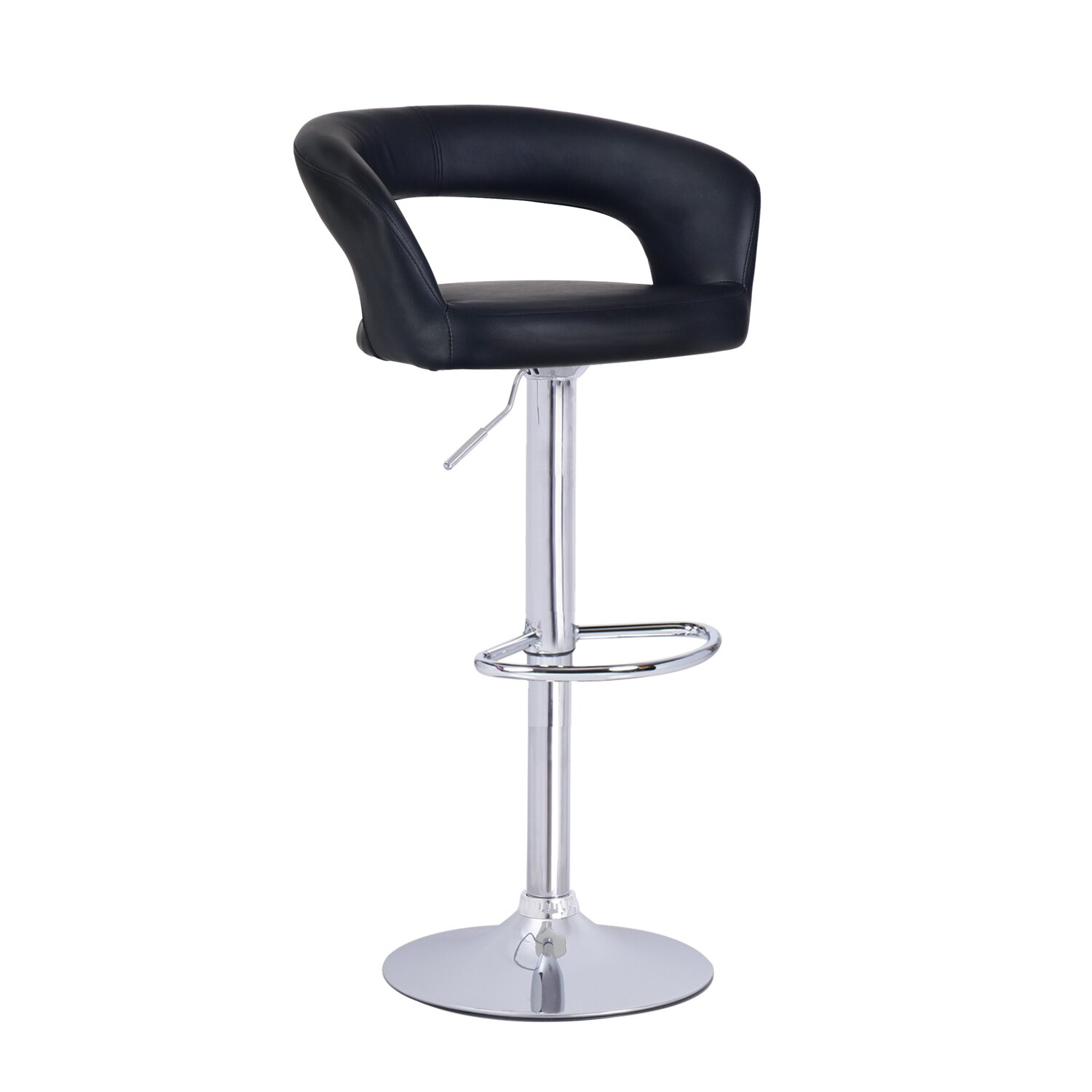 Adecotrading adjustable height swivel bar stool reviews for Counter height swivel bar stools