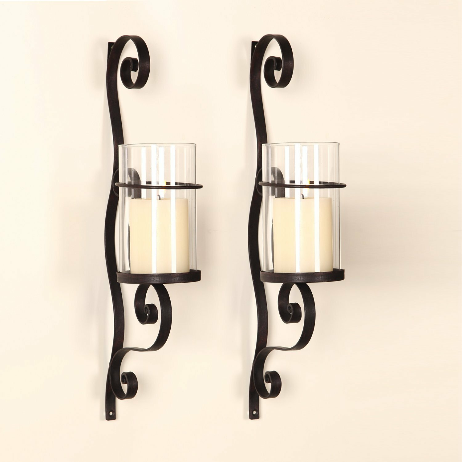 Wall Sconces Iron : AdecoTrading Iron Wall Sconce Candle Holder & Reviews Wayfair