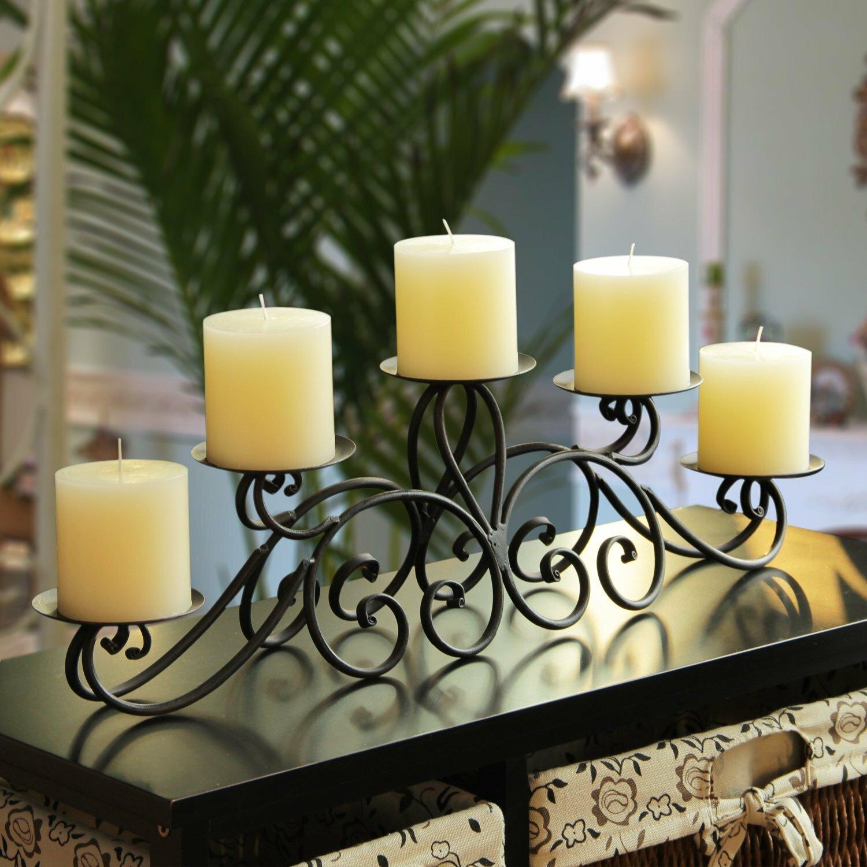 AdecoTrading Iron Candelabra Candle Holder & Reviews | Wayfair