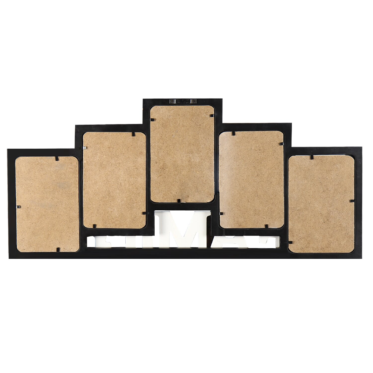 adecotrading 5 opening wooden photo collage wall hanging. Black Bedroom Furniture Sets. Home Design Ideas