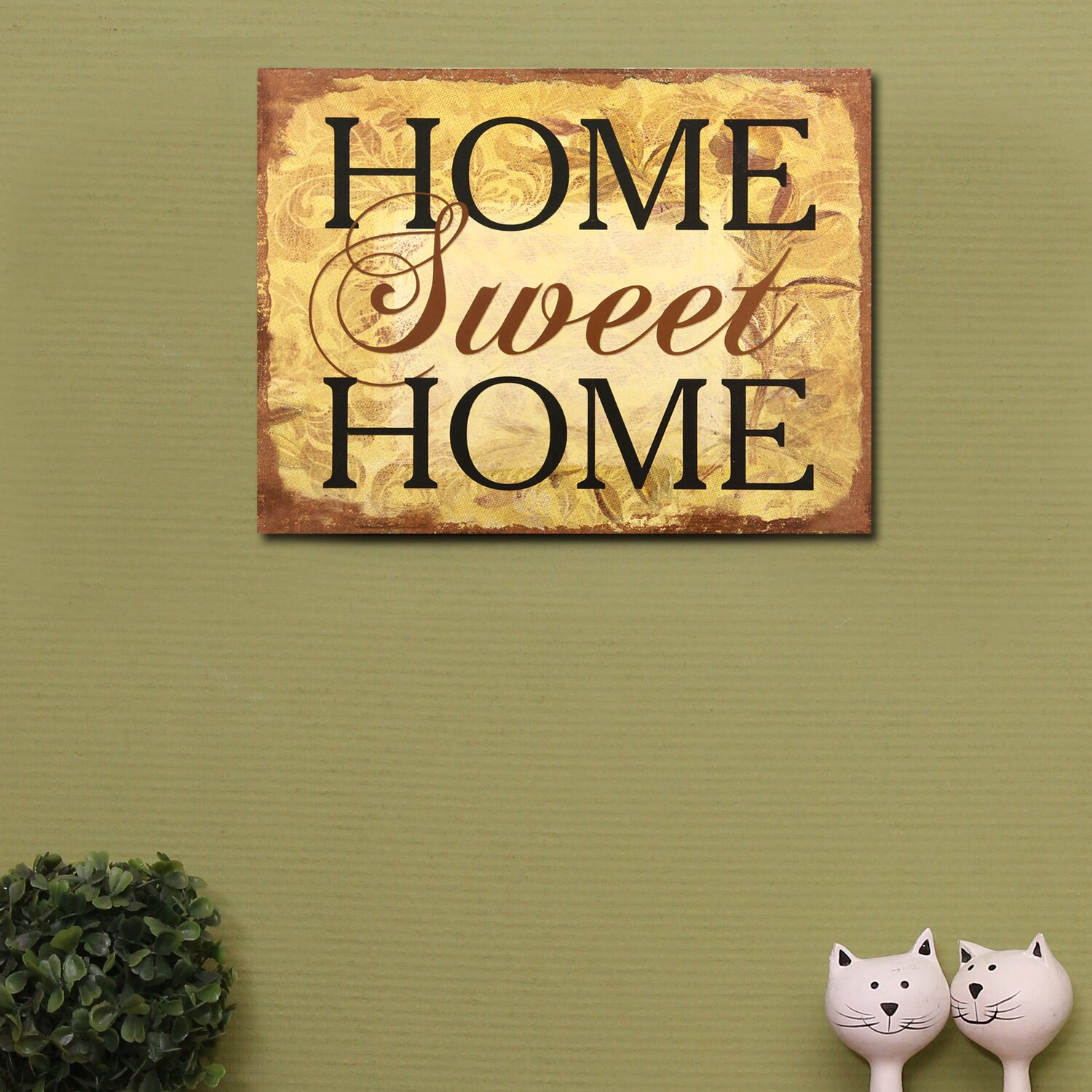 "AdecoTrading ""Home Sweet Home"" Wall Decor & Reviews"