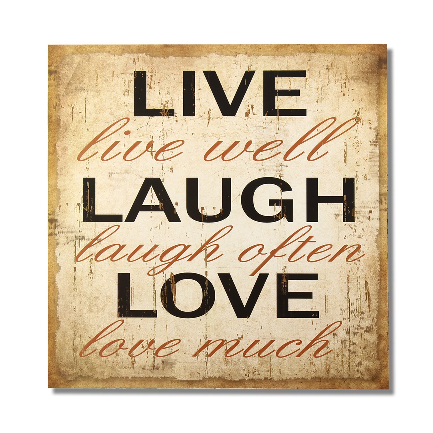 Adecotrading live laugh love wall decor reviews wayfair for Live laugh love wall art