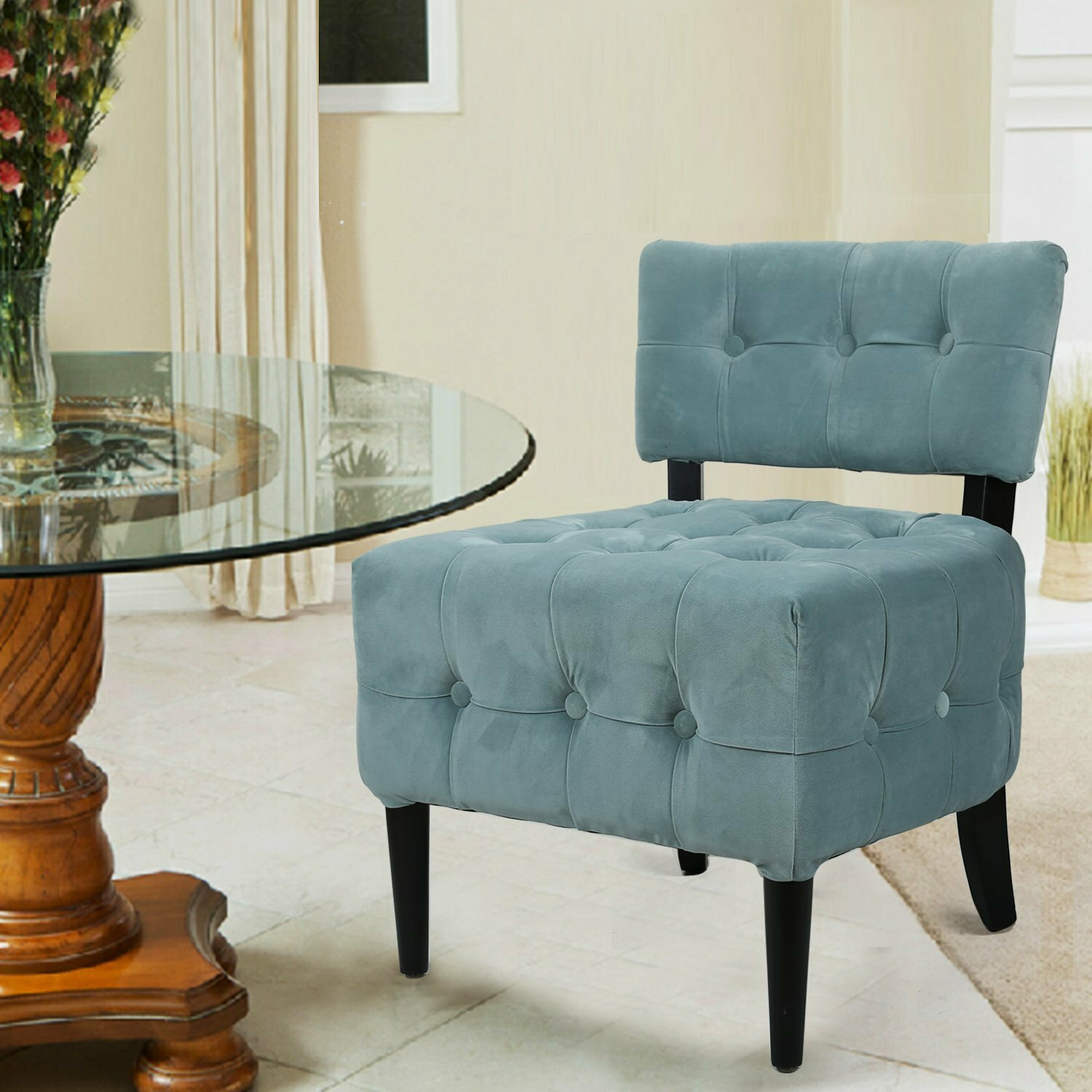 Adecotrading single living room side chair wayfair for Living room single chairs