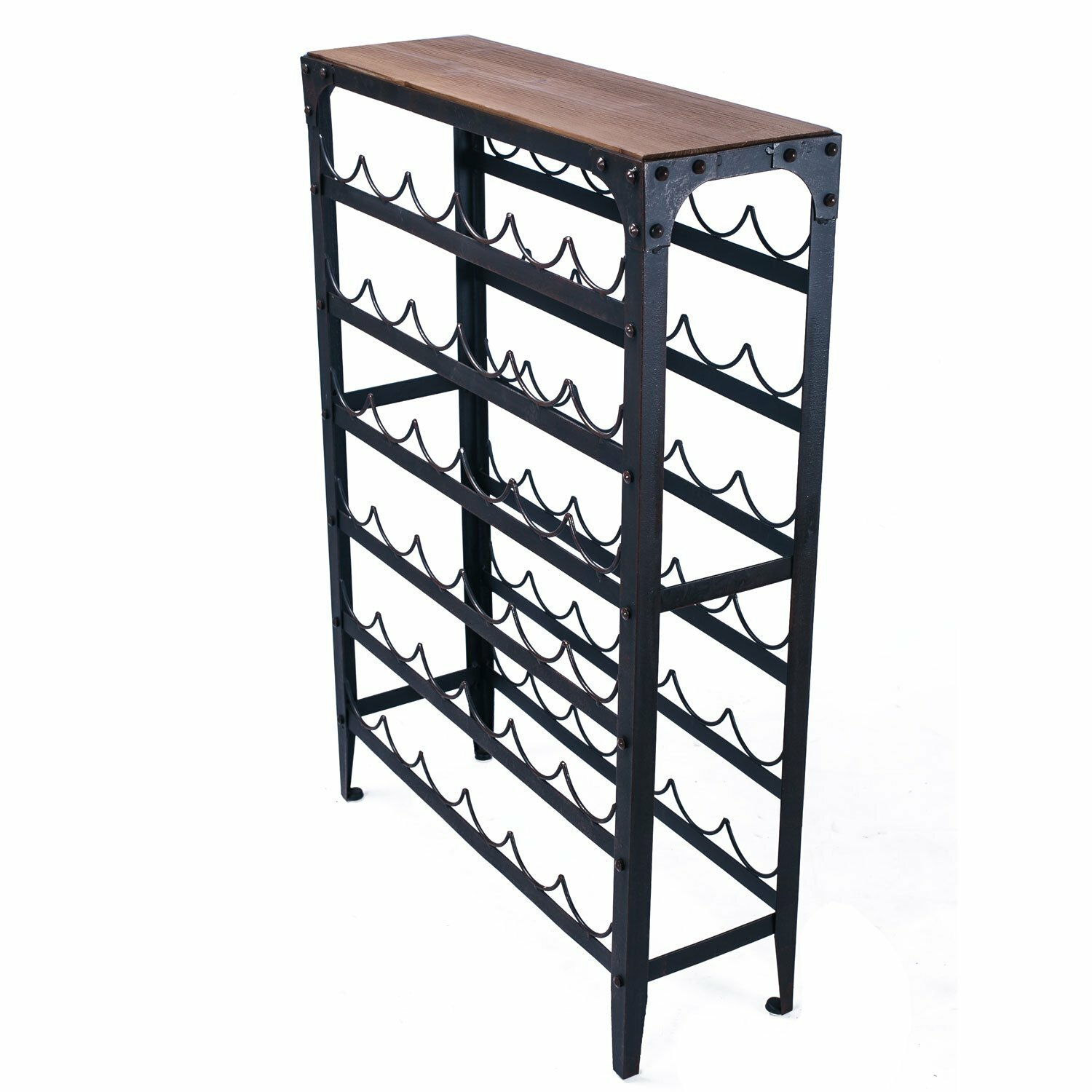 Adecotrading 36 bottle floor wine rack reviews wayfair for Floor wine rack