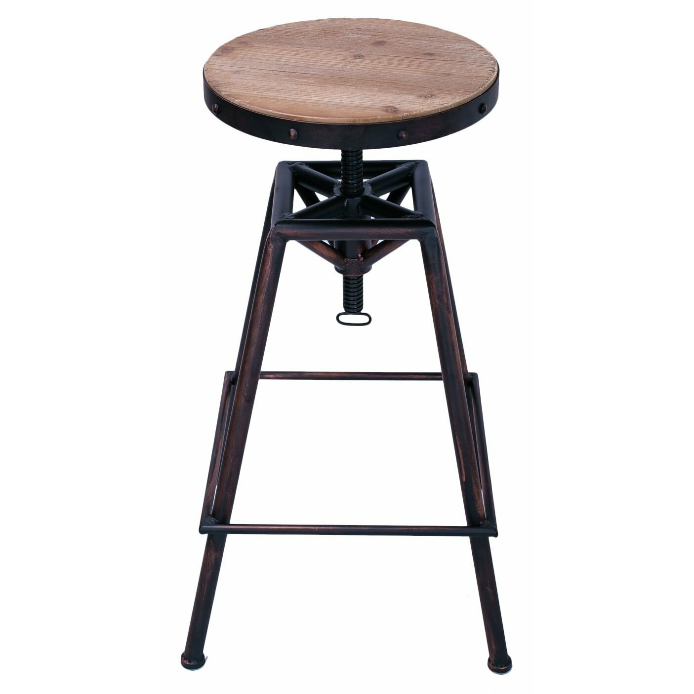 Adecotrading adjustable height swivel bar stool wayfair for Counter height swivel bar stools