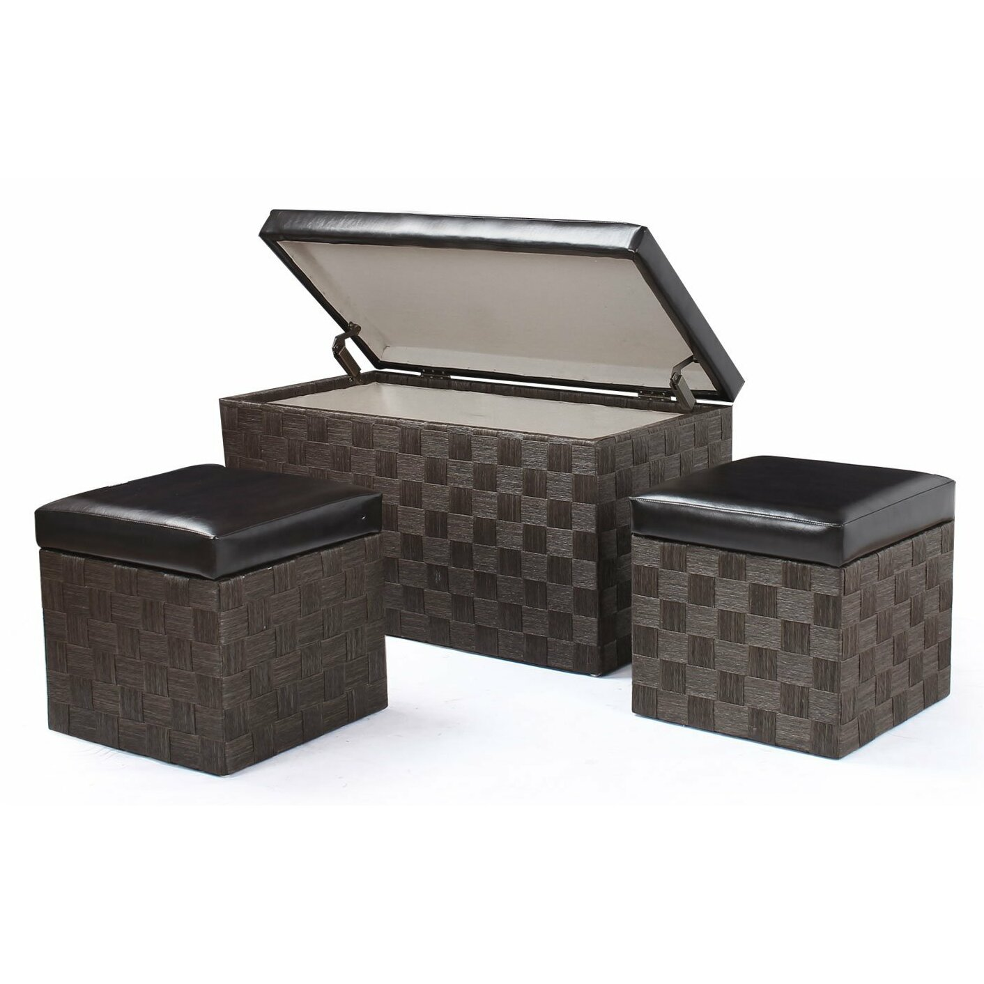 Adecotrading piece storage ottoman set reviews wayfair