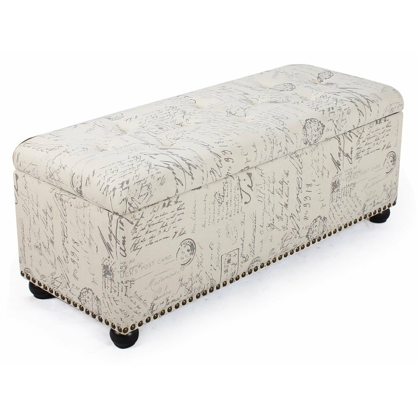 Adecotrading storage bedroom bench reviews wayfair - Bedroom benches with storage ...
