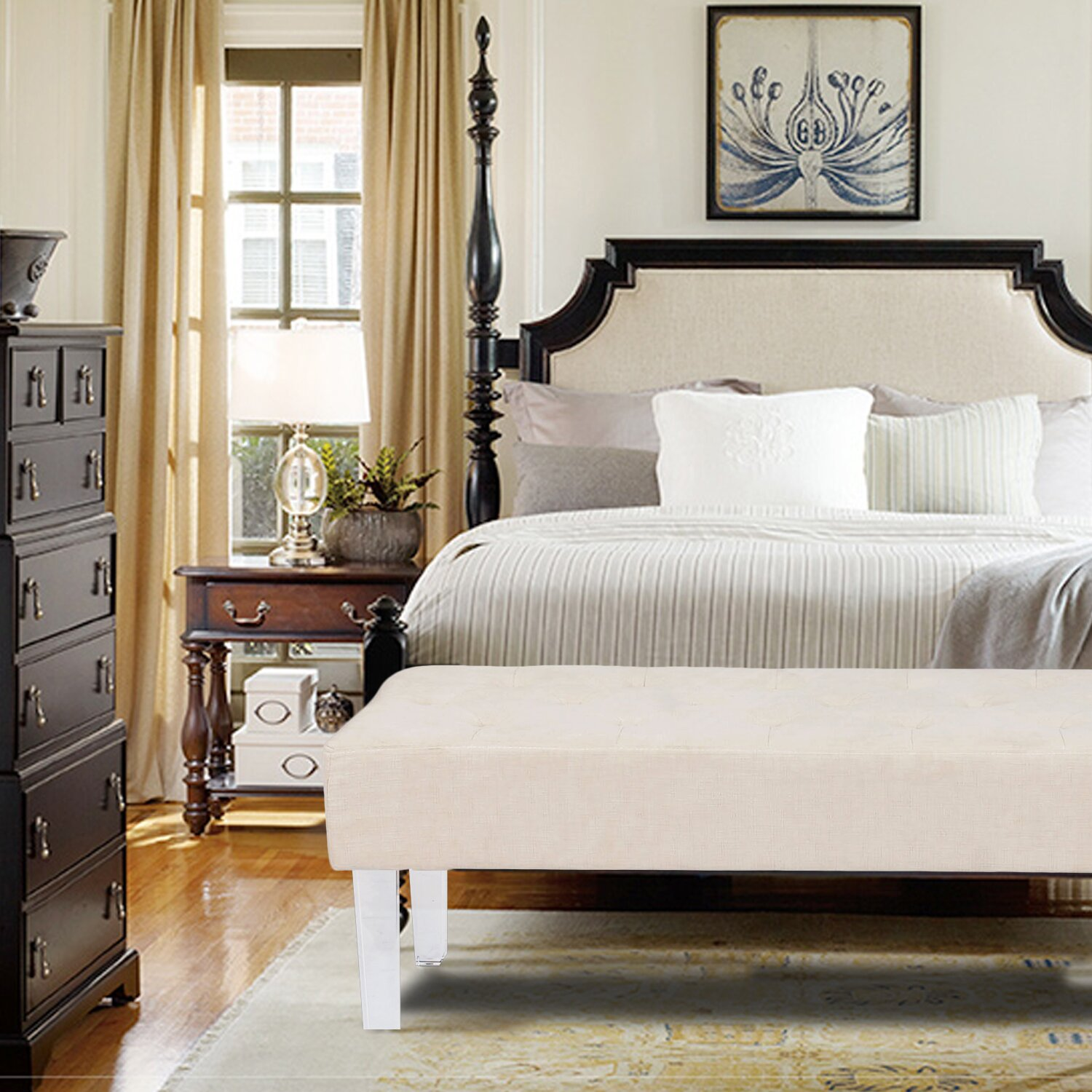 AdecoTrading Bedroom Bench & Reviews