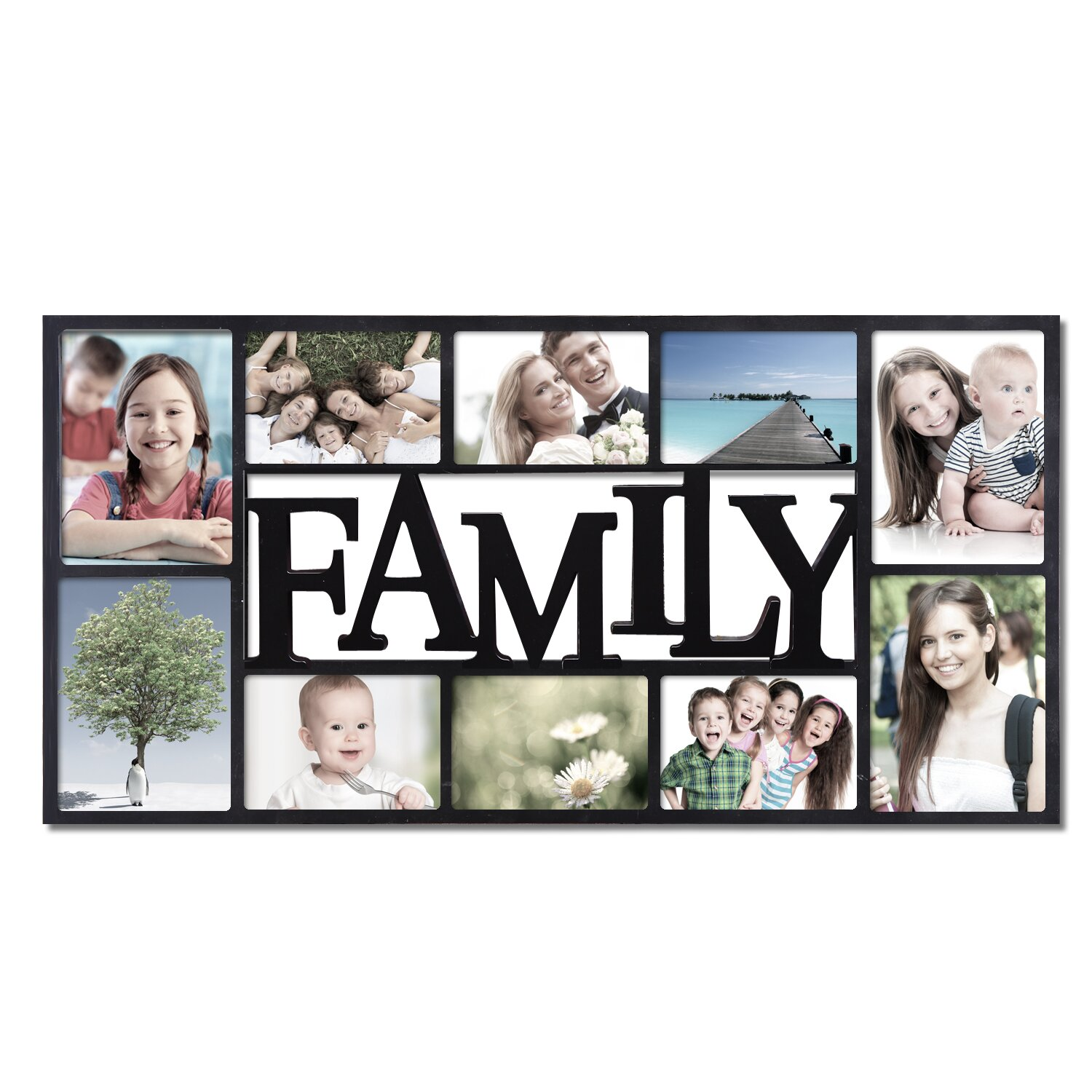 Adecotrading 10 Opening Decorative Family Wall Hanging