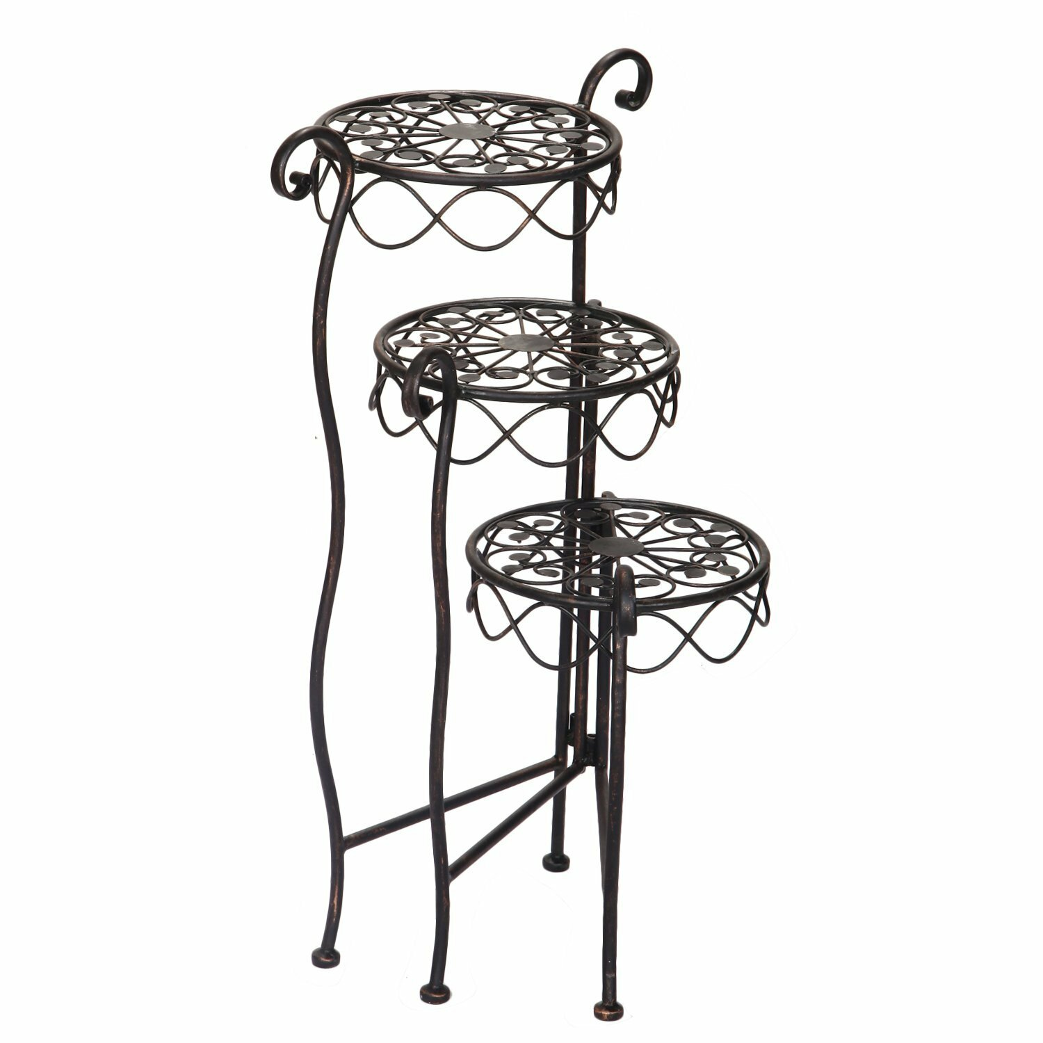 Multi Tiered Plant Stand HD0016 ADEC2109 on round holiday tables