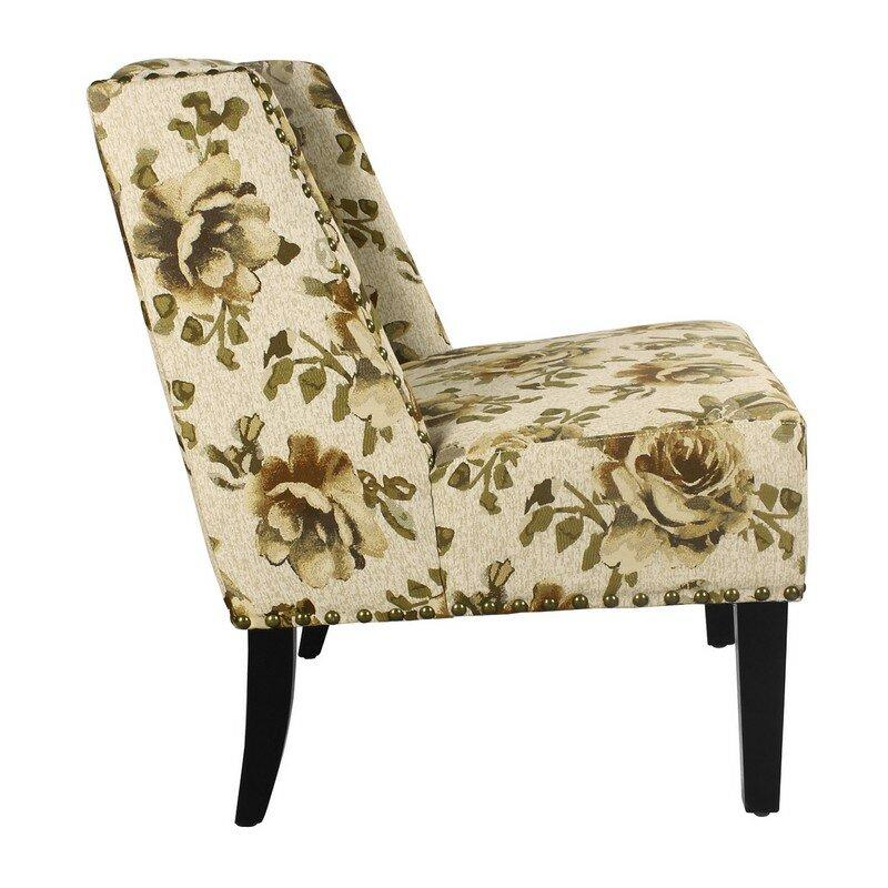 AdecoTrading Printing Fabric Slipper Chair Reviews Wayfair