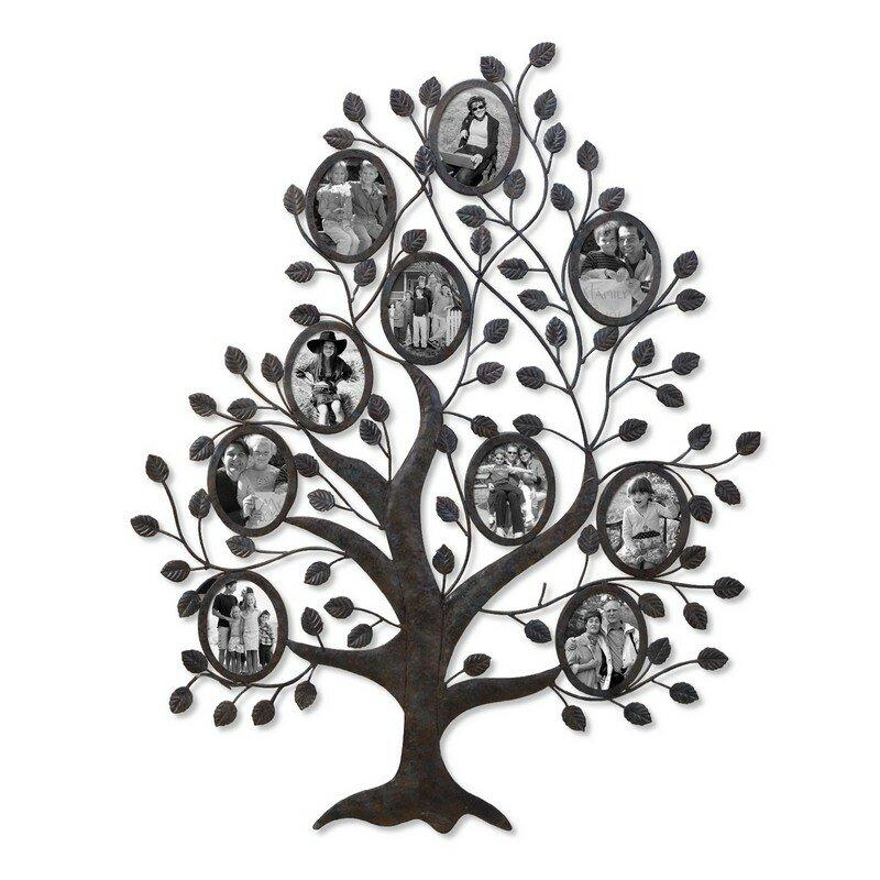 AdecoTrading 10 Opening Decorative Family Tree Wall