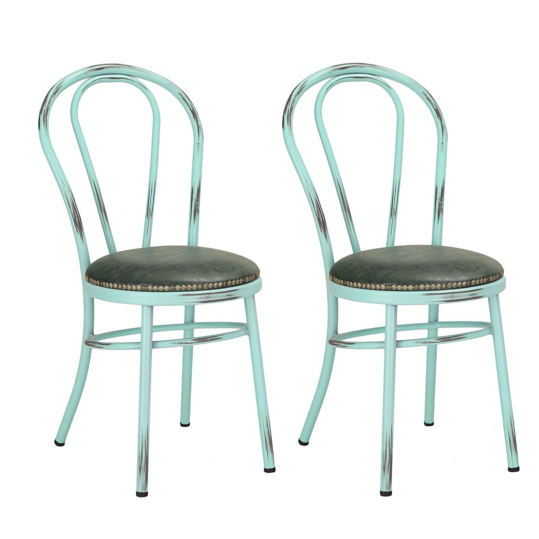 Adecotrading Vintage Metal Side Chair Wayfair