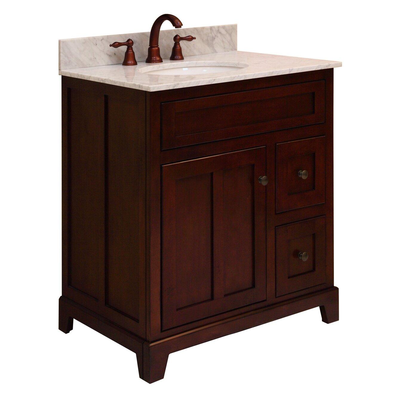 sunny wood grand haven 30 bathroom vanity base wayfair. Black Bedroom Furniture Sets. Home Design Ideas