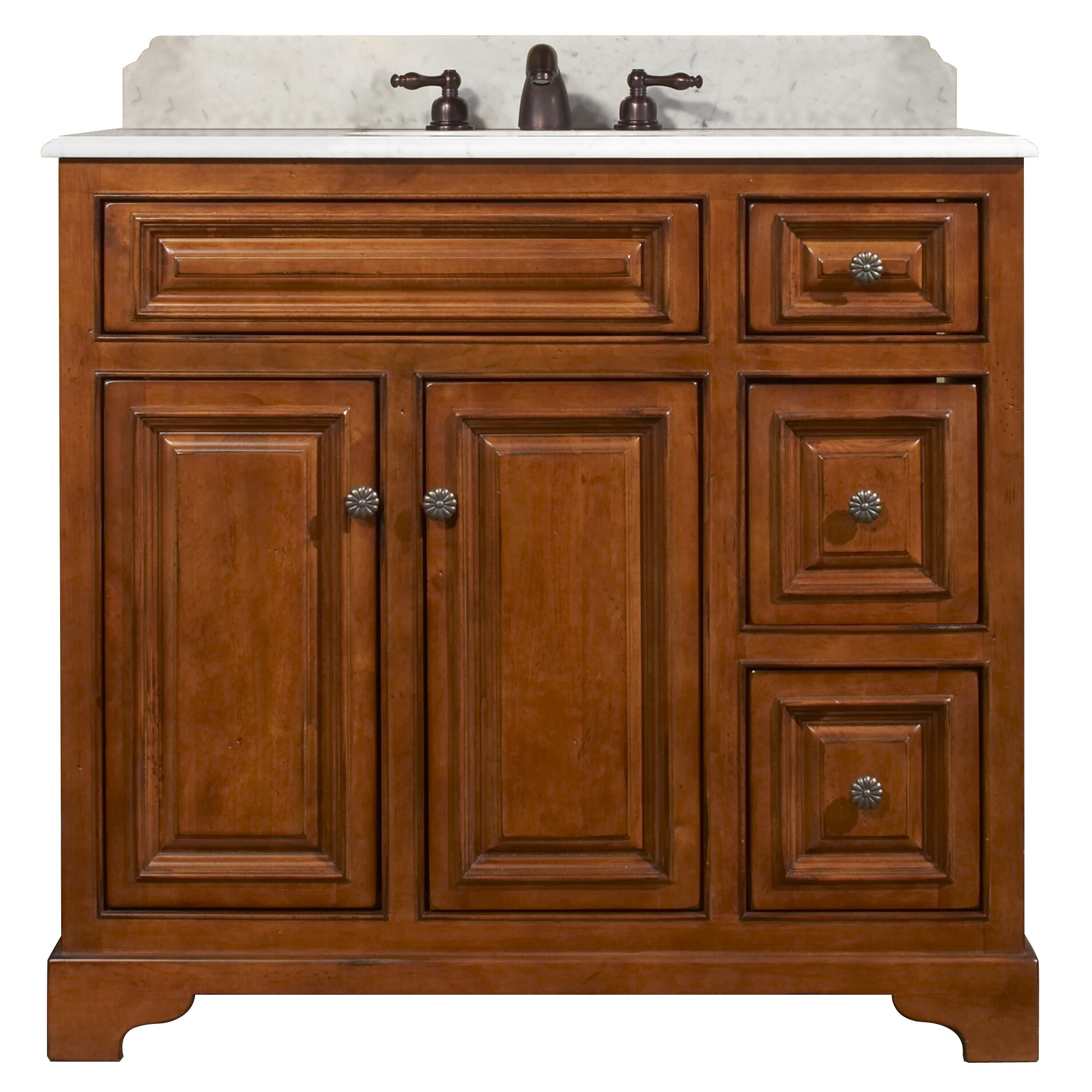 Sunny wood cambrian 37 bathroom vanity base wayfair - Bathroom vanity cabinet base only ...
