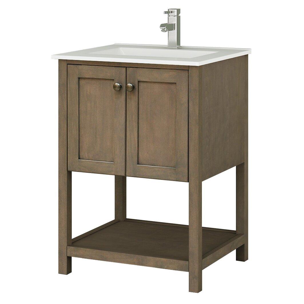Sunny Wood Aiden Bath 24 Bathroom Vanity Base Wayfair