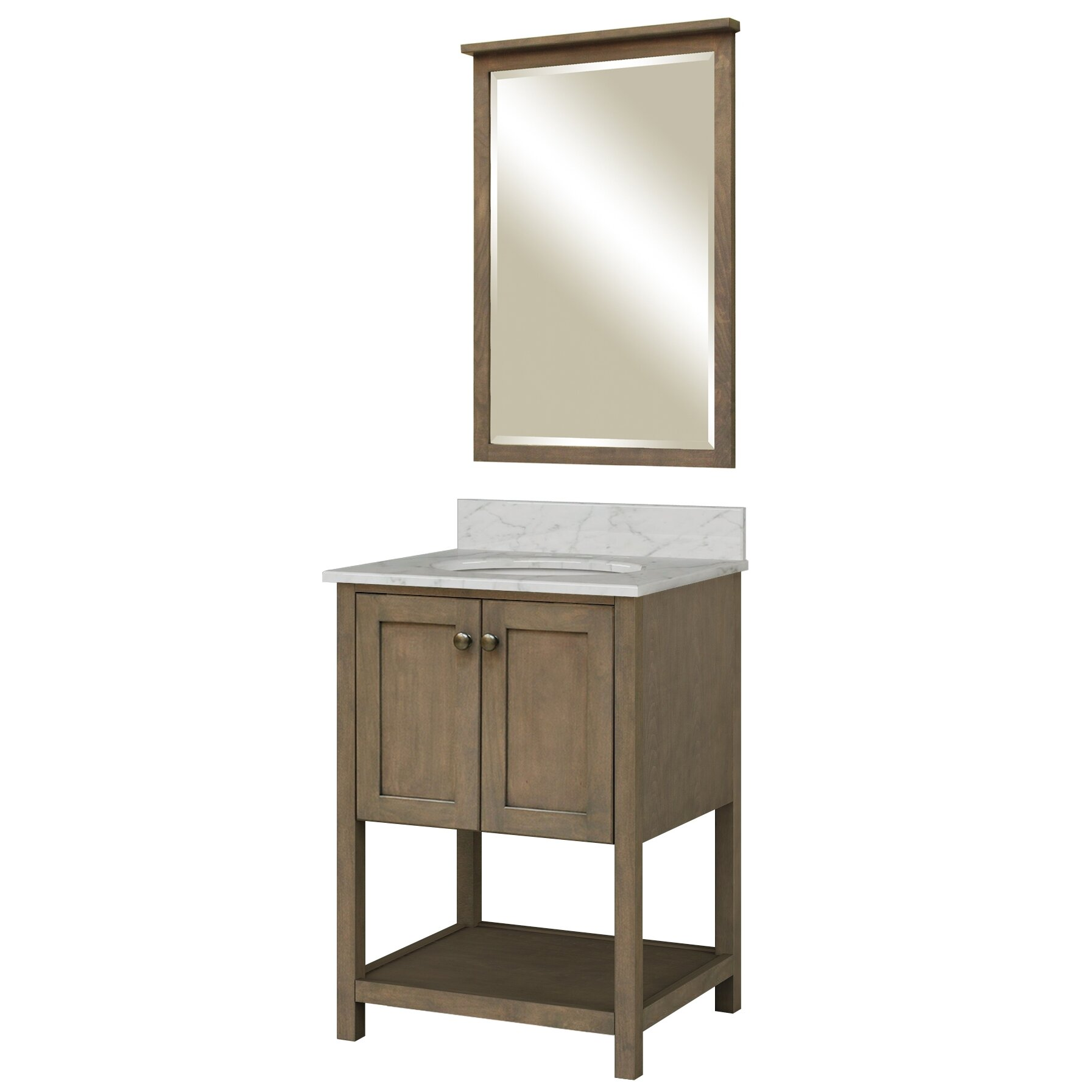 24 Bathroom Vanity 24 Quot Loft Bathroom Vanity Walnut Bathroom Vanities Ardi Bathrooms 24