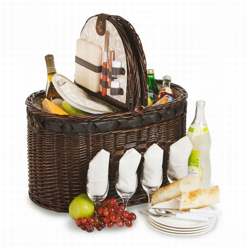 4 Person Insulated Picnic Basket : Picnic plus by spectrum torrington person deluxe