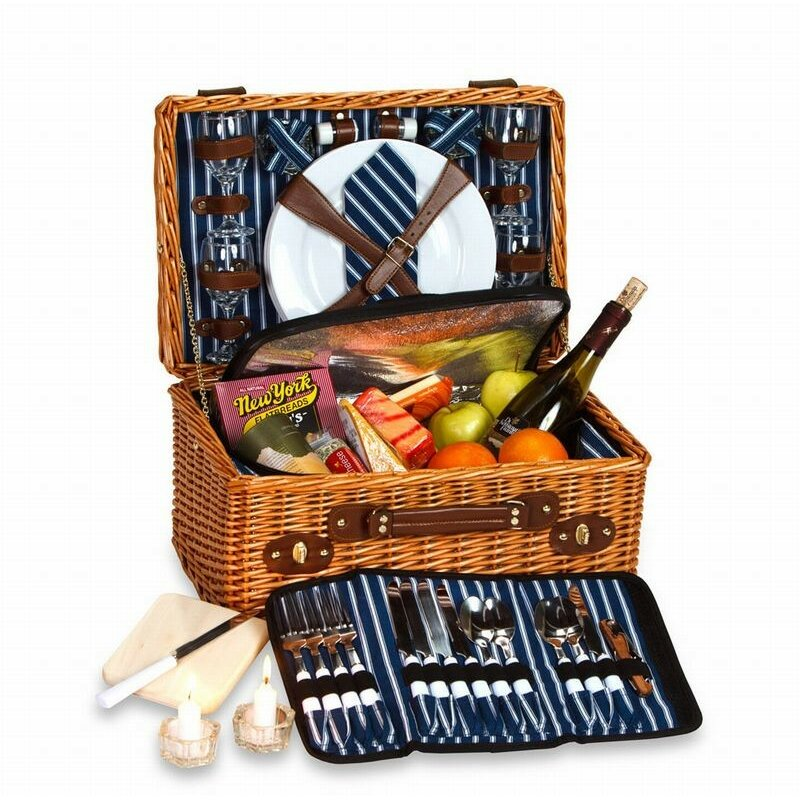 4 Person Insulated Picnic Basket : Picnic plus by spectrum wynberrie person basket