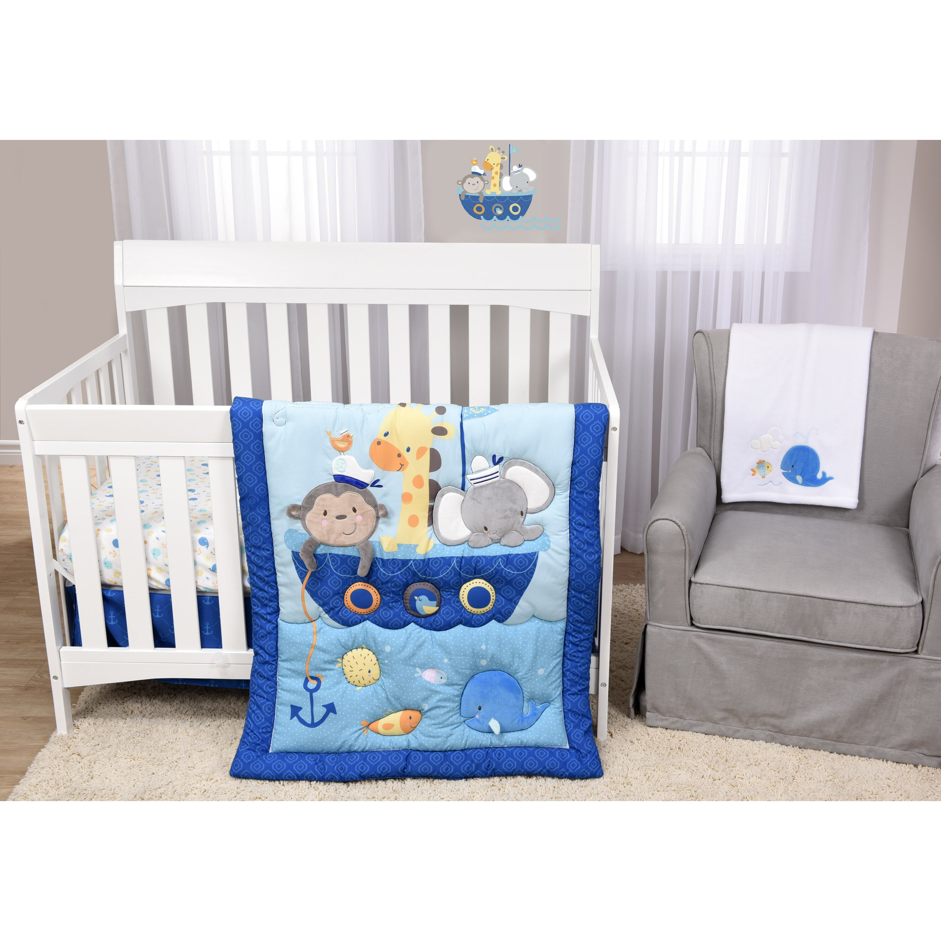 Harriet Bee Rollins 3 Piece Crib Bedding Set: Baby's First Ahoy There 5 Piece Crib Bedding Set & Reviews