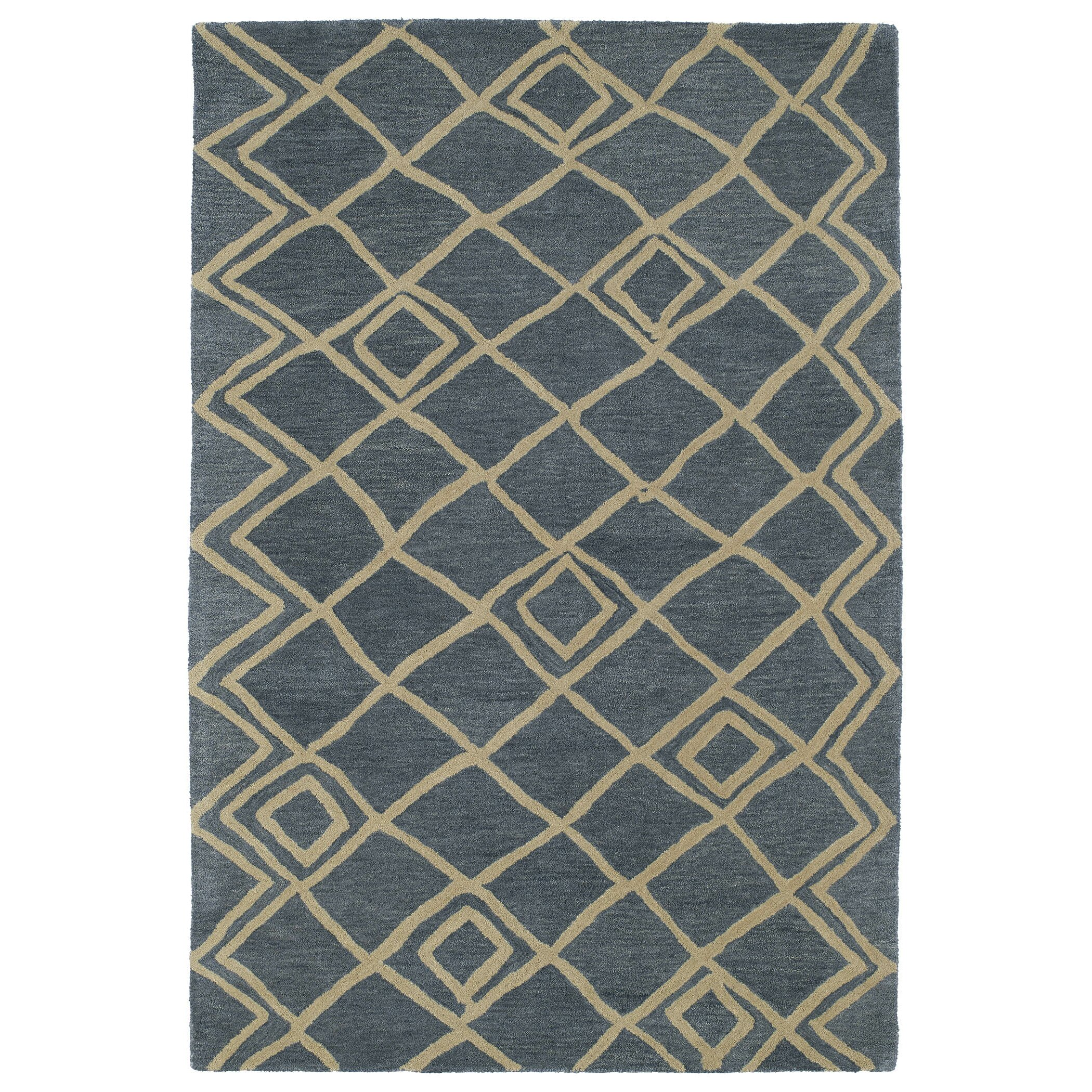 Kaleen Brooklyn Brody Rug: Kaleen Casablanca Blue Geometric Rug & Reviews
