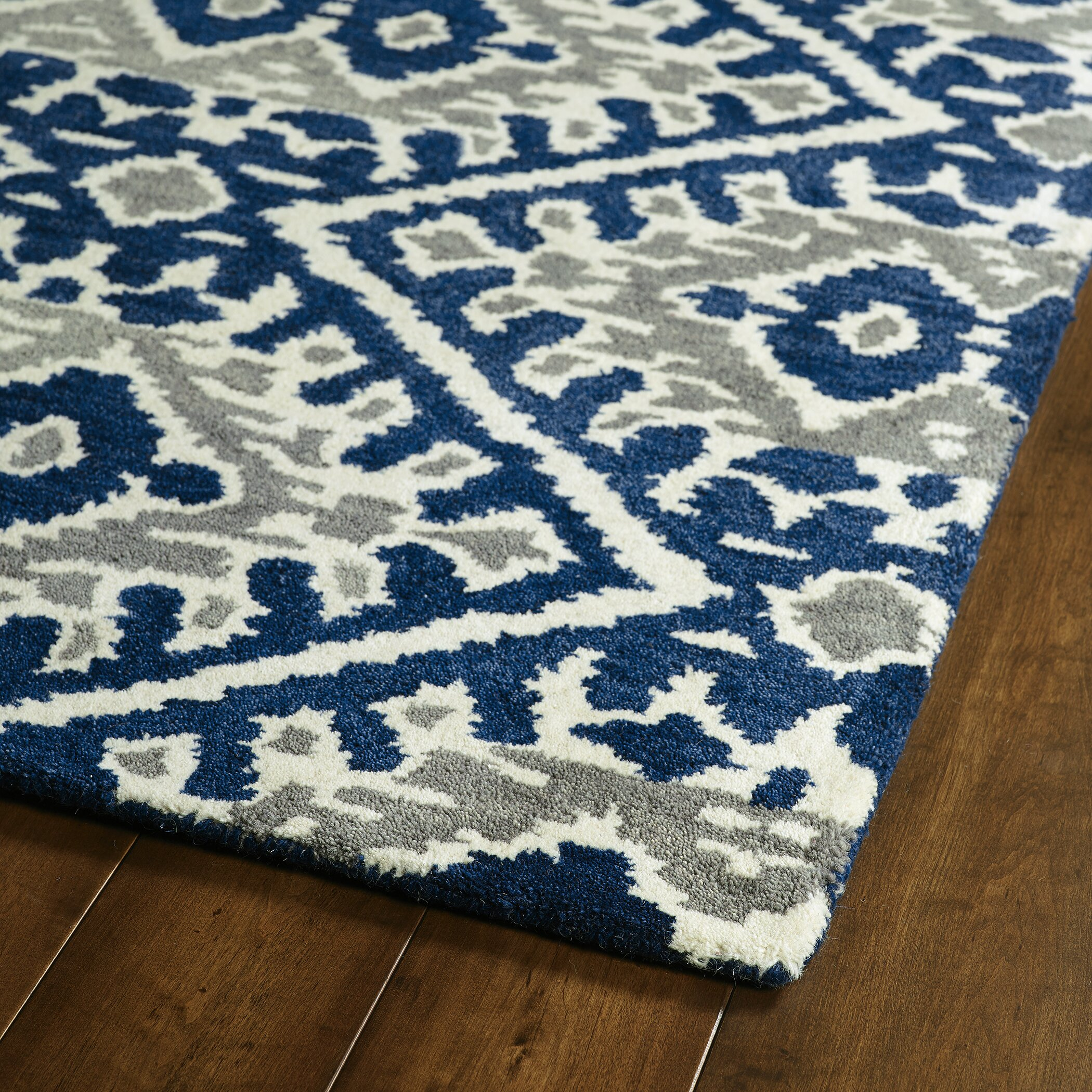 Kaleen Global Inspirations Blue/Grey Area Rug & Reviews