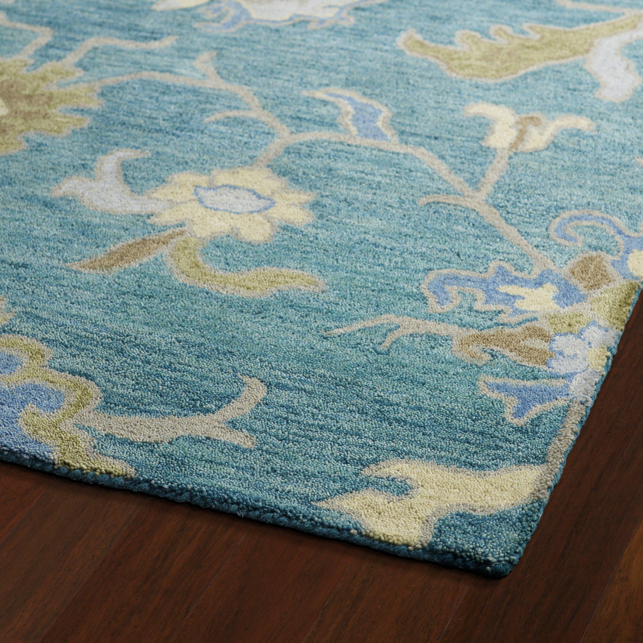 Kaleen helena turquoise area rug reviews wayfairca for Turquoise area rug