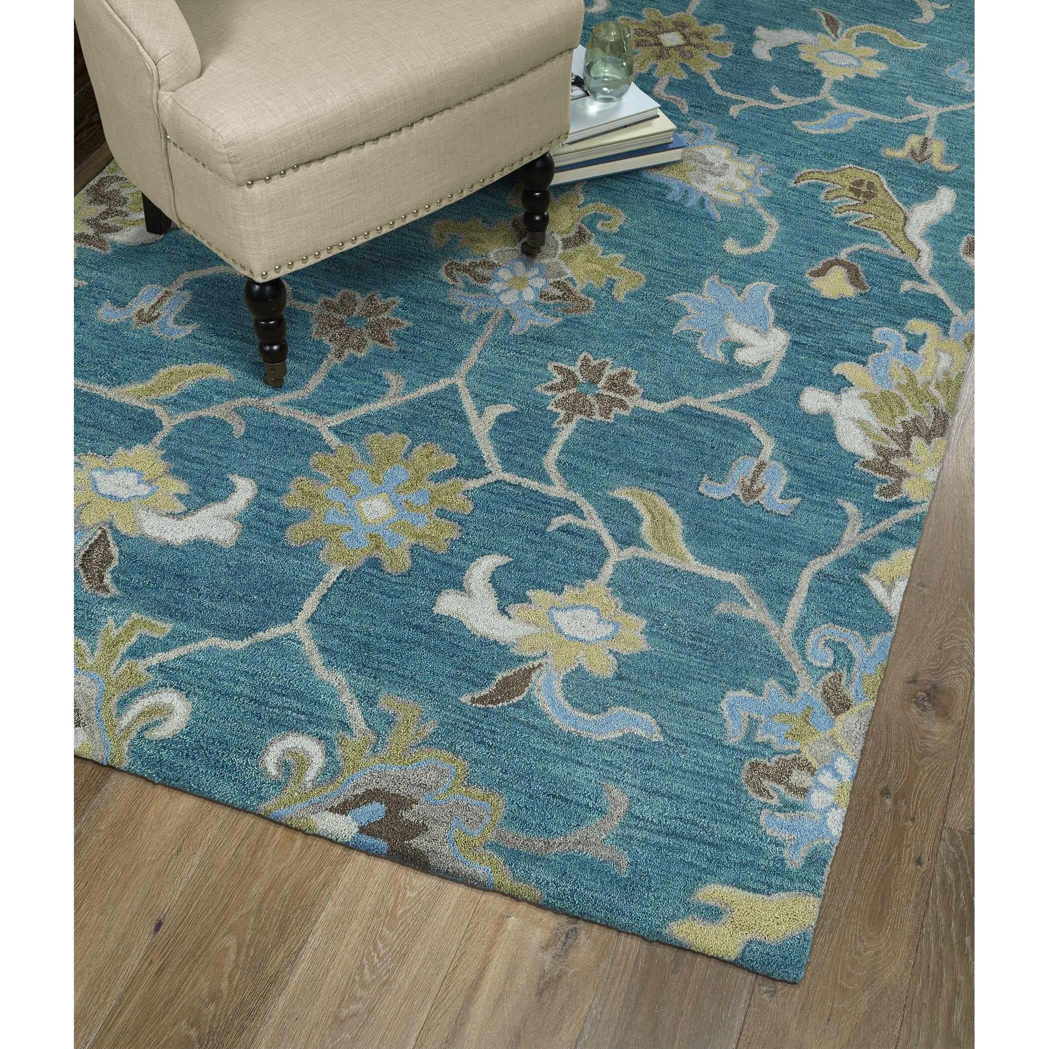Kaleen Helena Turquoise Area Rug & Reviews