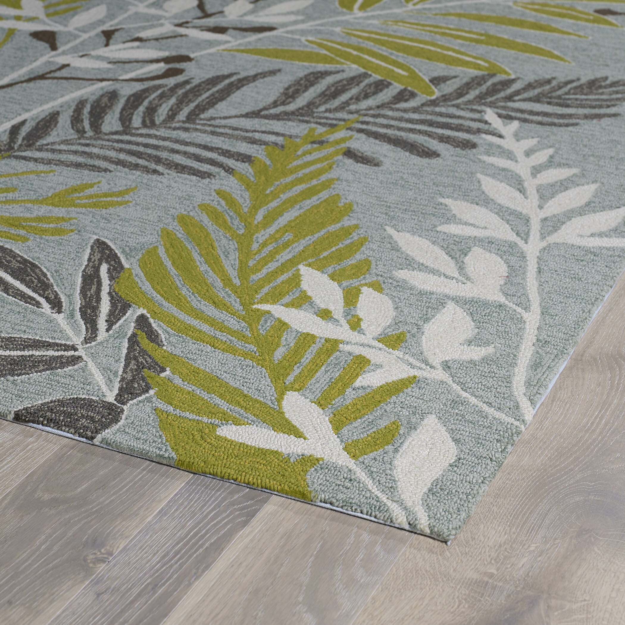 Kaleen Home And Porch Wasabi Green Grey Indoor Outdoor