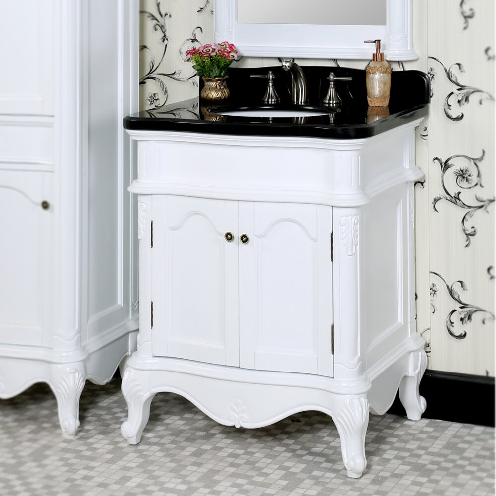 Infurniture wb 30 single bathroom vanity set wayfair for Bath and vanity set