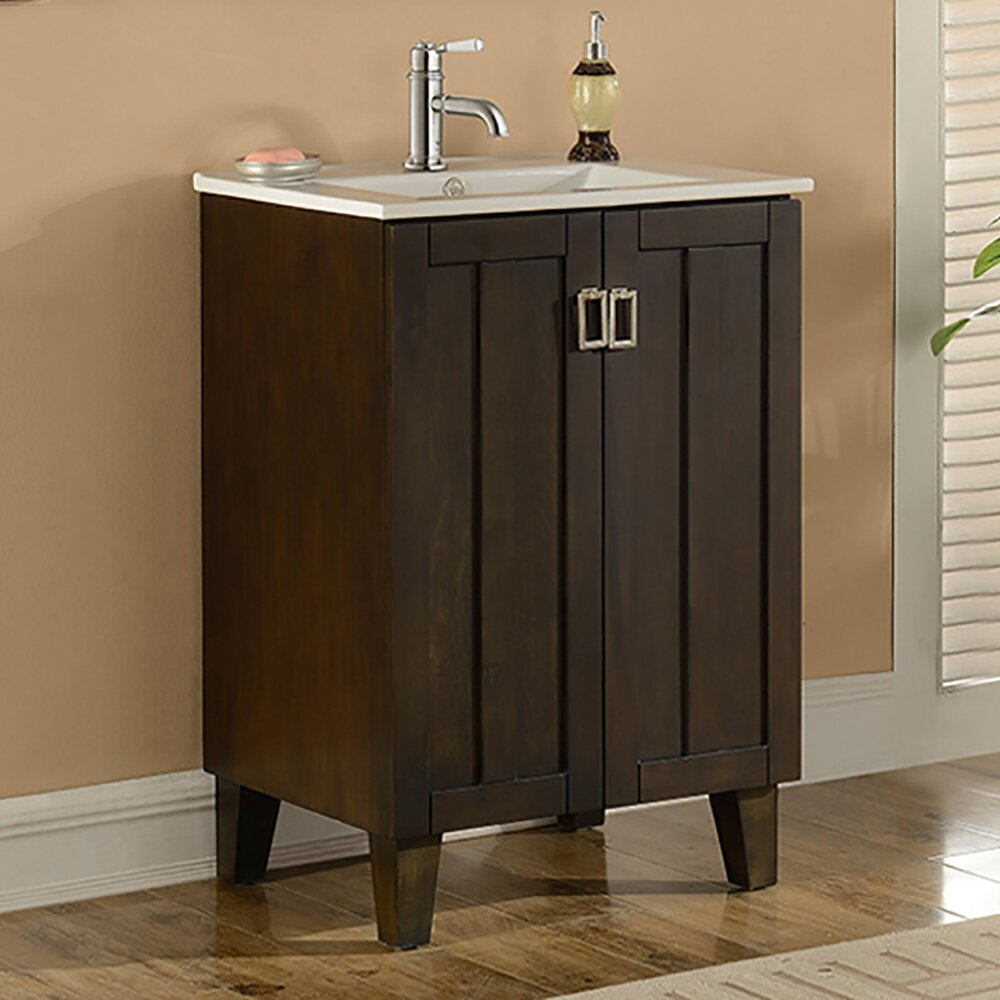 Infurniture in 32 series 24 single sink bathroom vanity for Single bathroom vanity