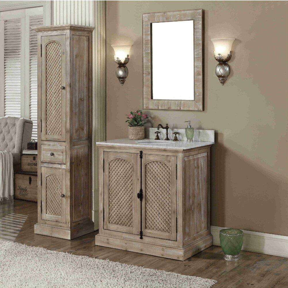 Infurniture Wk Series 37 Quot Single Bathroom Vanity Set With