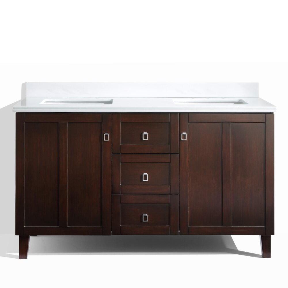 Infurniture 60 Double Sink Bathroom Vanity Set Wayfair