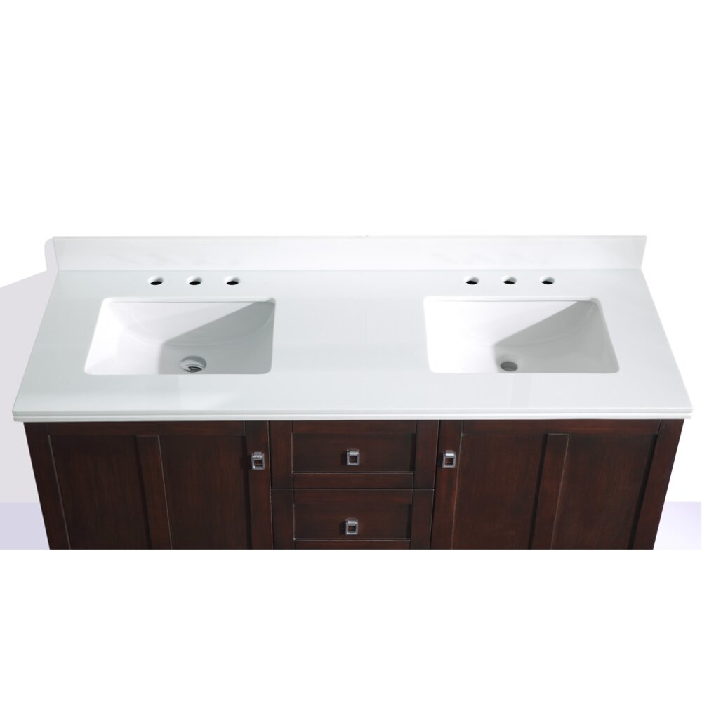 Infurniture 60 double sink bathroom vanity set wayfair Bathroom sink and vanity sets