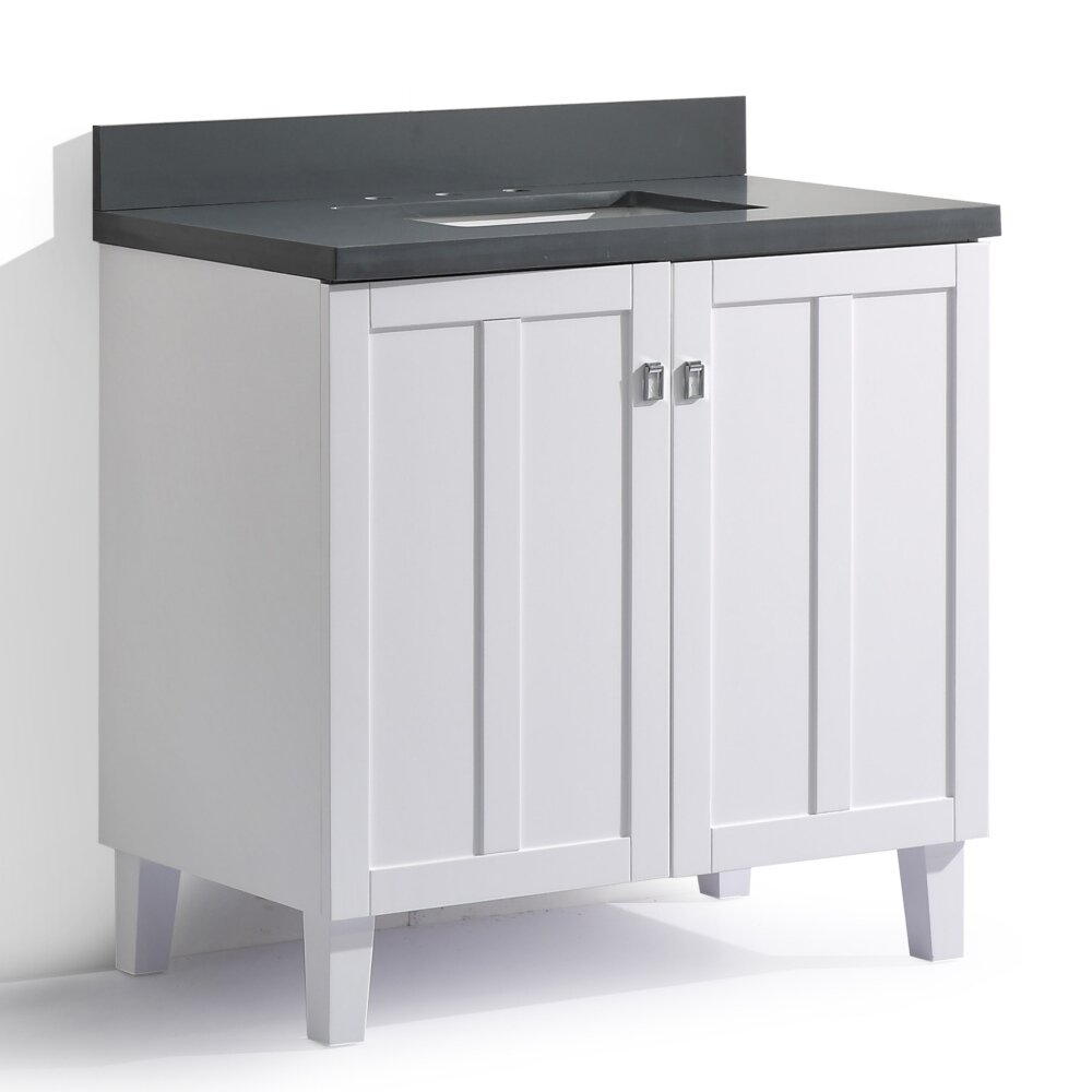 InFurniture IN 32 Series 36 Single Sink Bathroom Vanity Set Wayfair