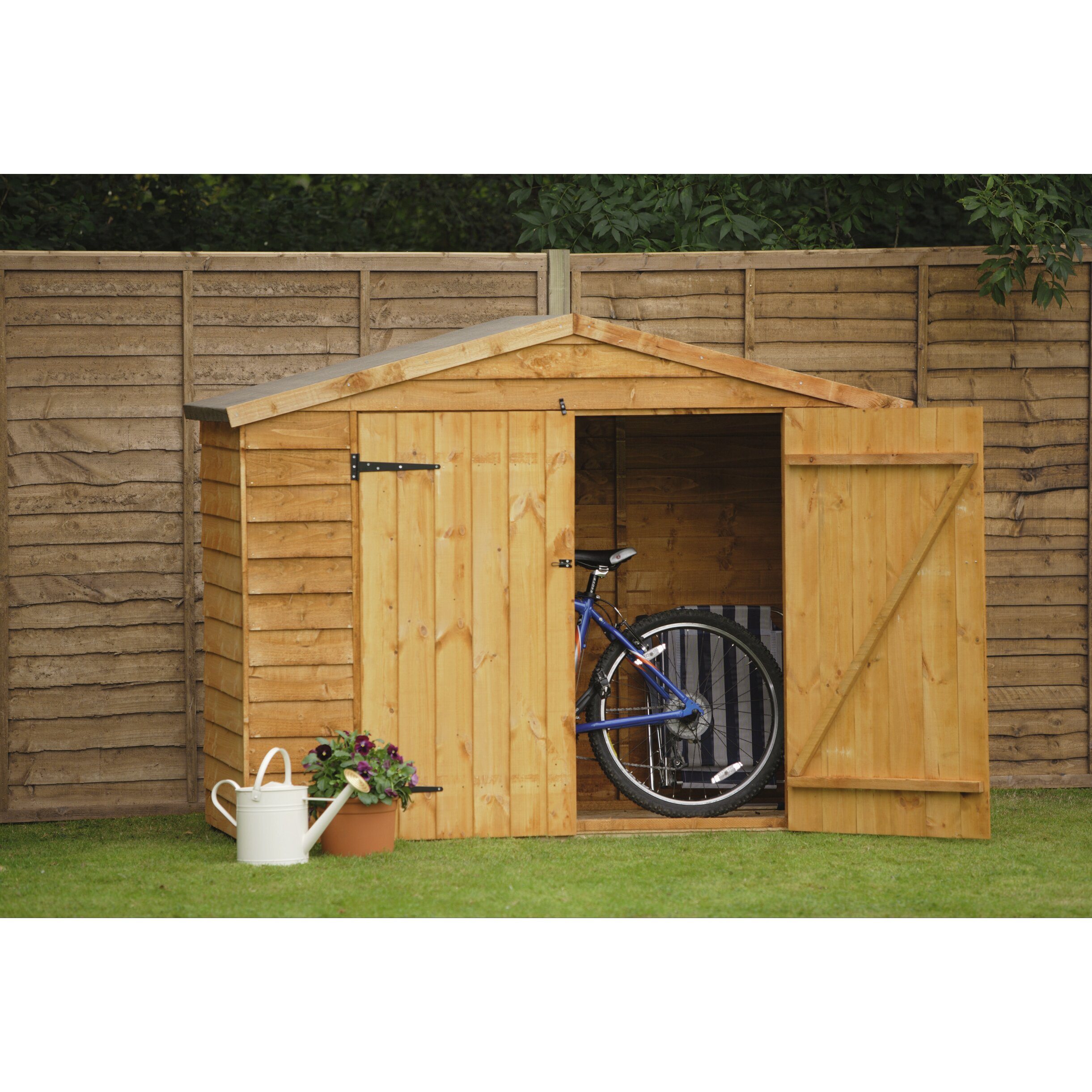 forest garden 6 x 3 wooden bike shed reviews wayfair uk. Black Bedroom Furniture Sets. Home Design Ideas