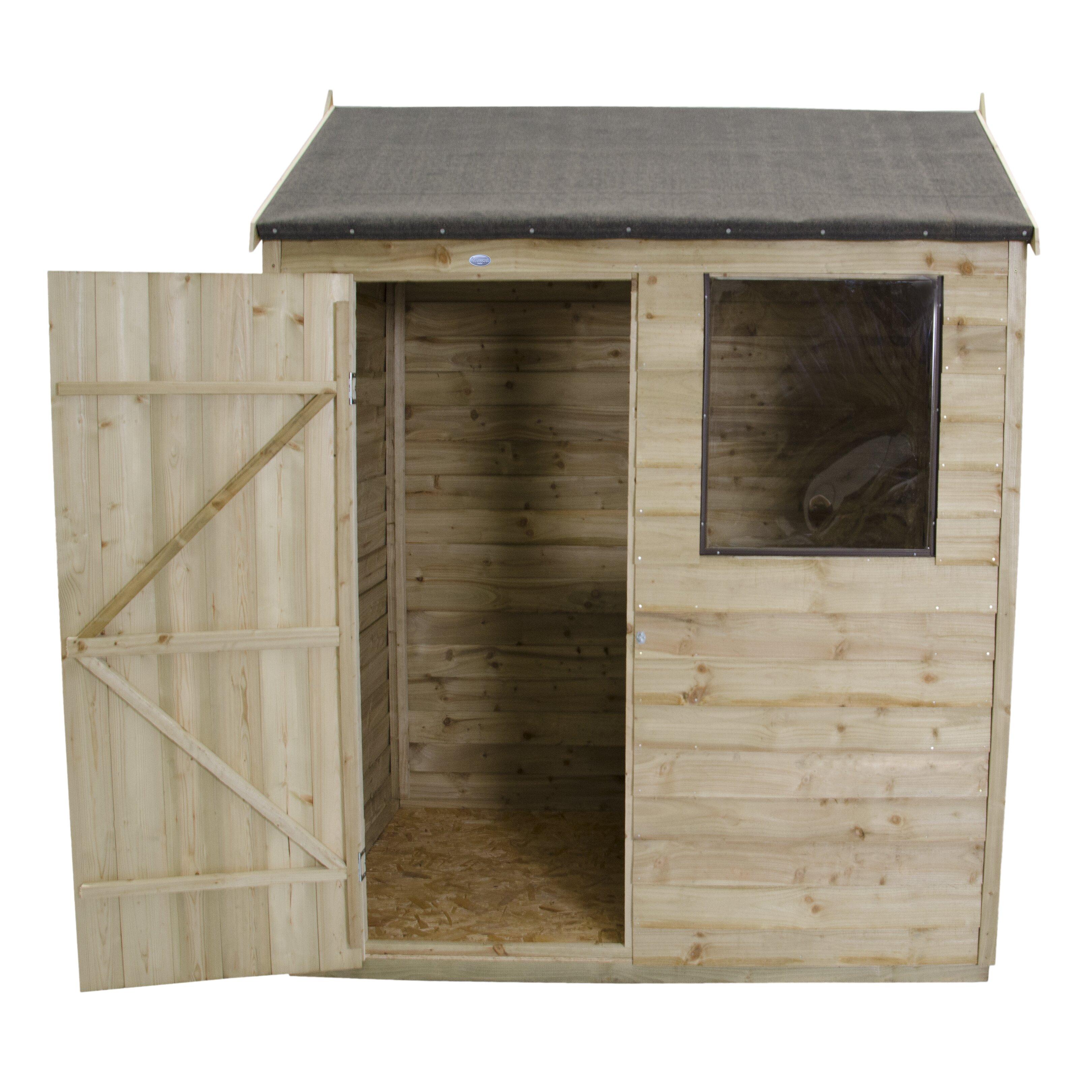 Forest garden 6 x 4 wooden storage shed wayfair uk for Garden shed 6 x 4