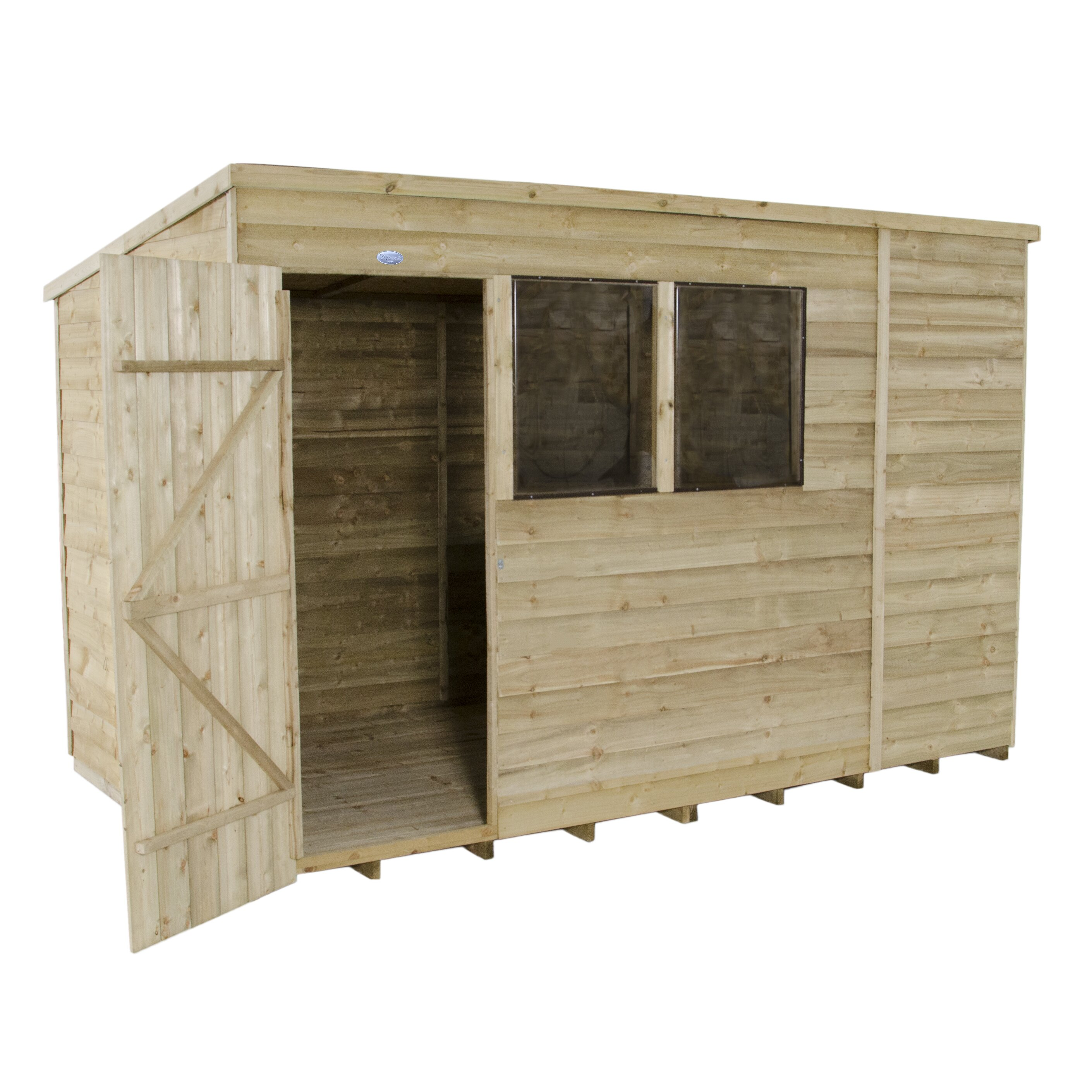 Forest garden 10 x 6 wooden storage shed wayfair uk for Wooden garden storage shed