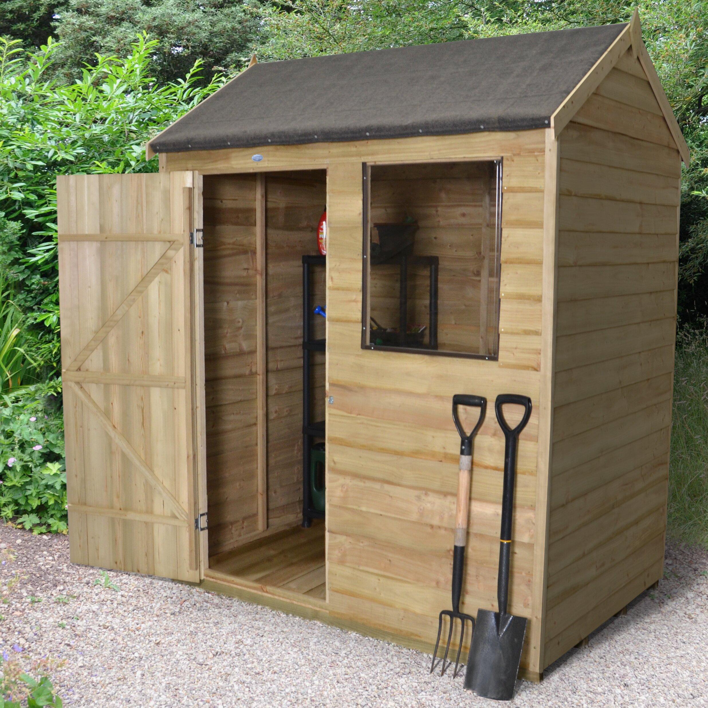 Forest Garden 6 x 4 Wooden Storage Shed | Wayfair UK